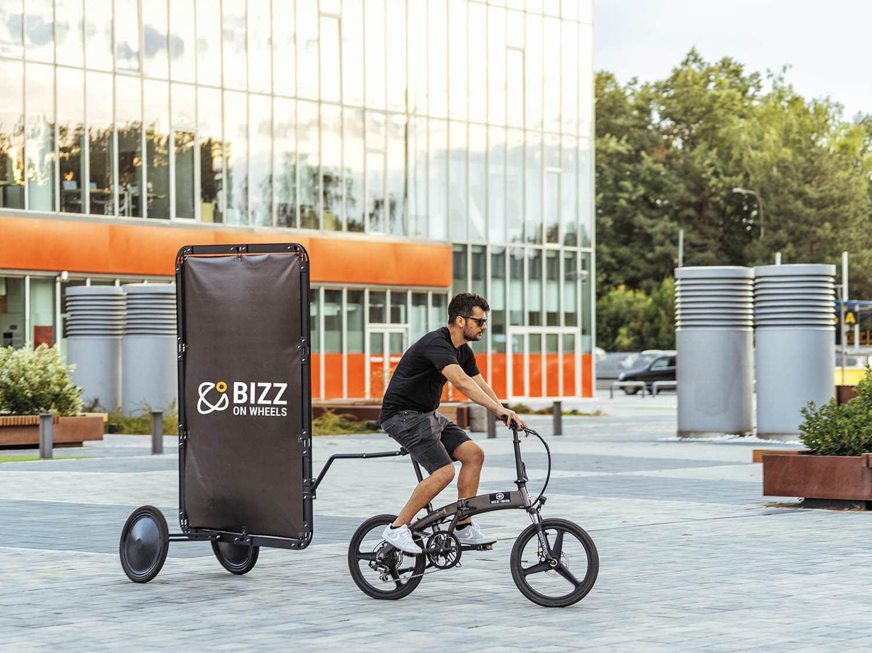 AdBicy advertising bike trailer