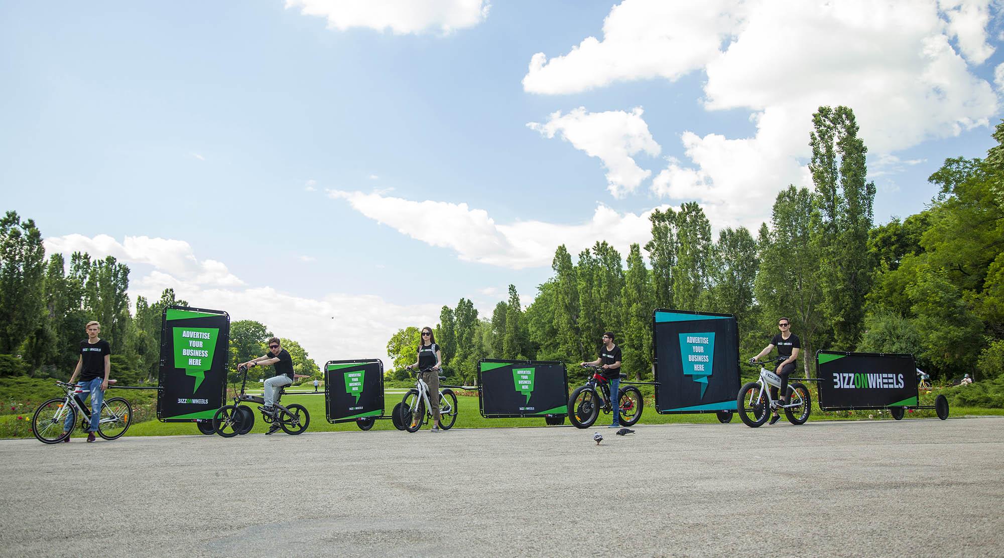 AdBicy advertising bike billboards in different sizes