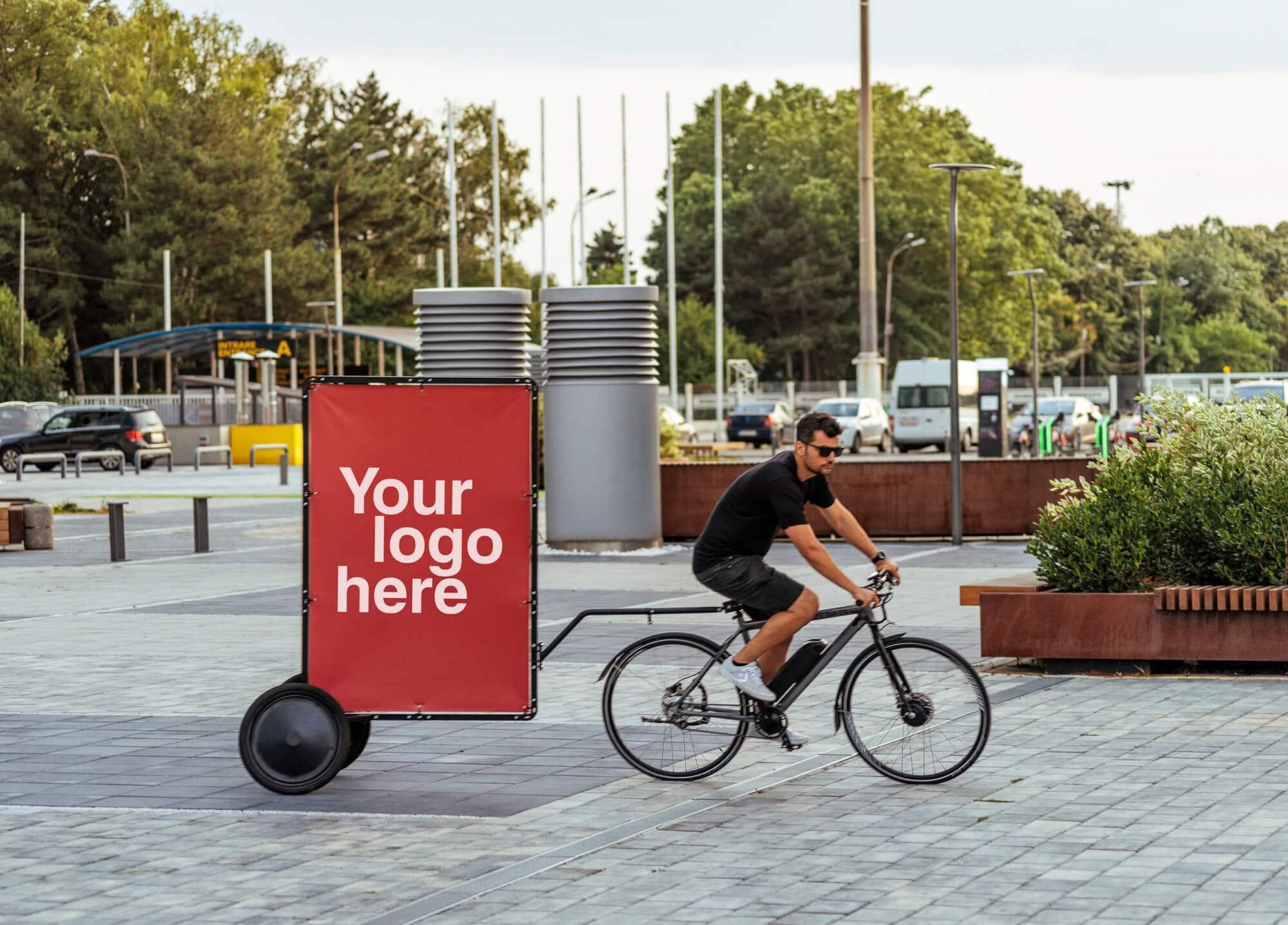 AdBicy M bike billboard