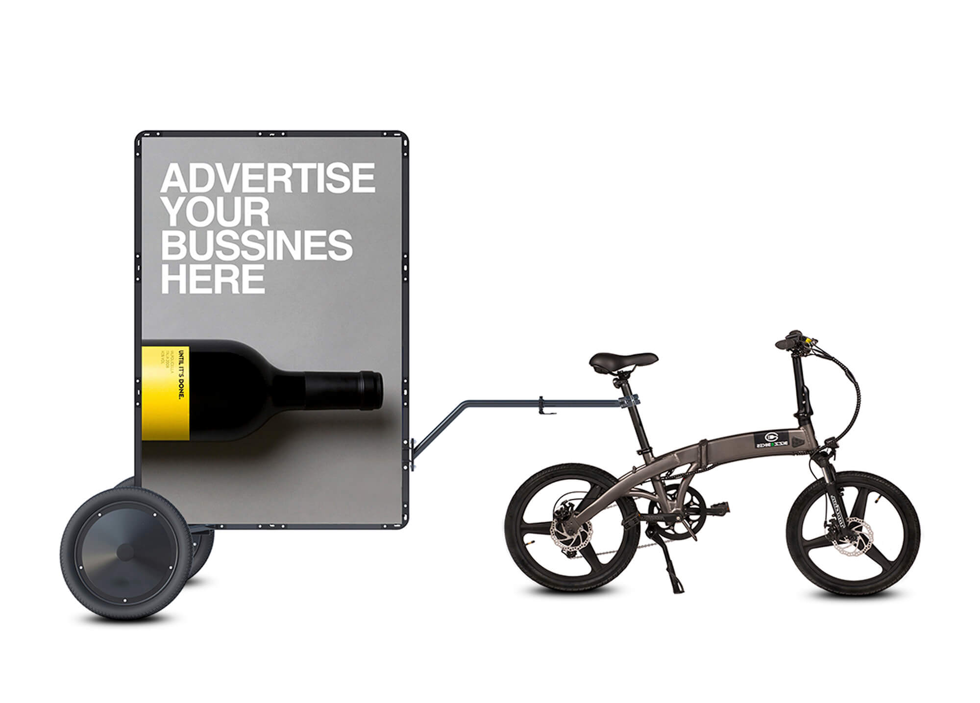 AdBicy M mobile billboard for bicycle advertising