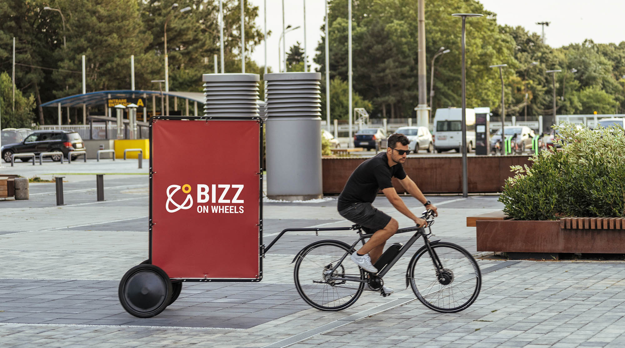 AdBicy M mobile bicycle billboard