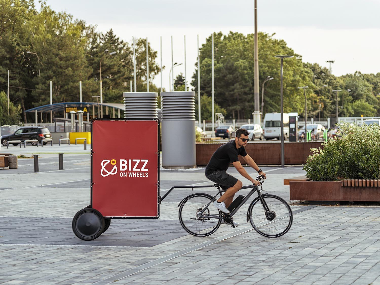 AdBicy M bike advertising trailer