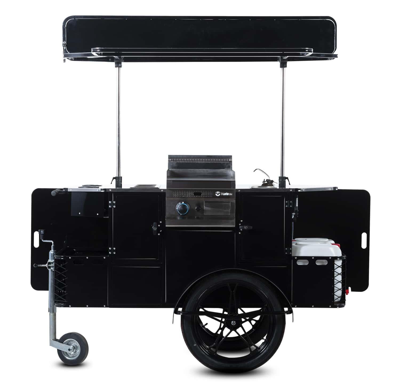 Bizz On Wheels BBQ & grill cart vendor side