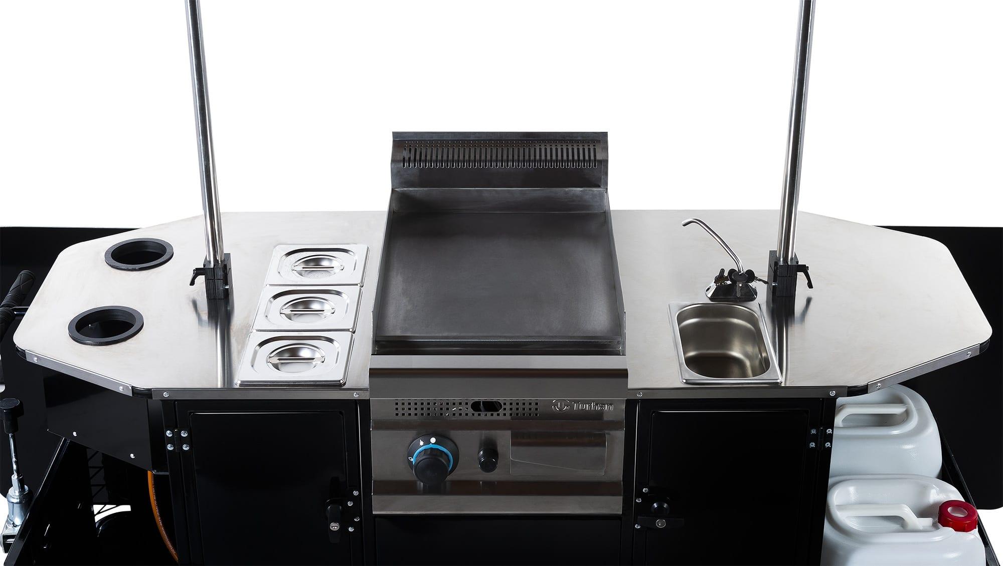 BizzOnWheels BBQ & grill cart countertop equipment