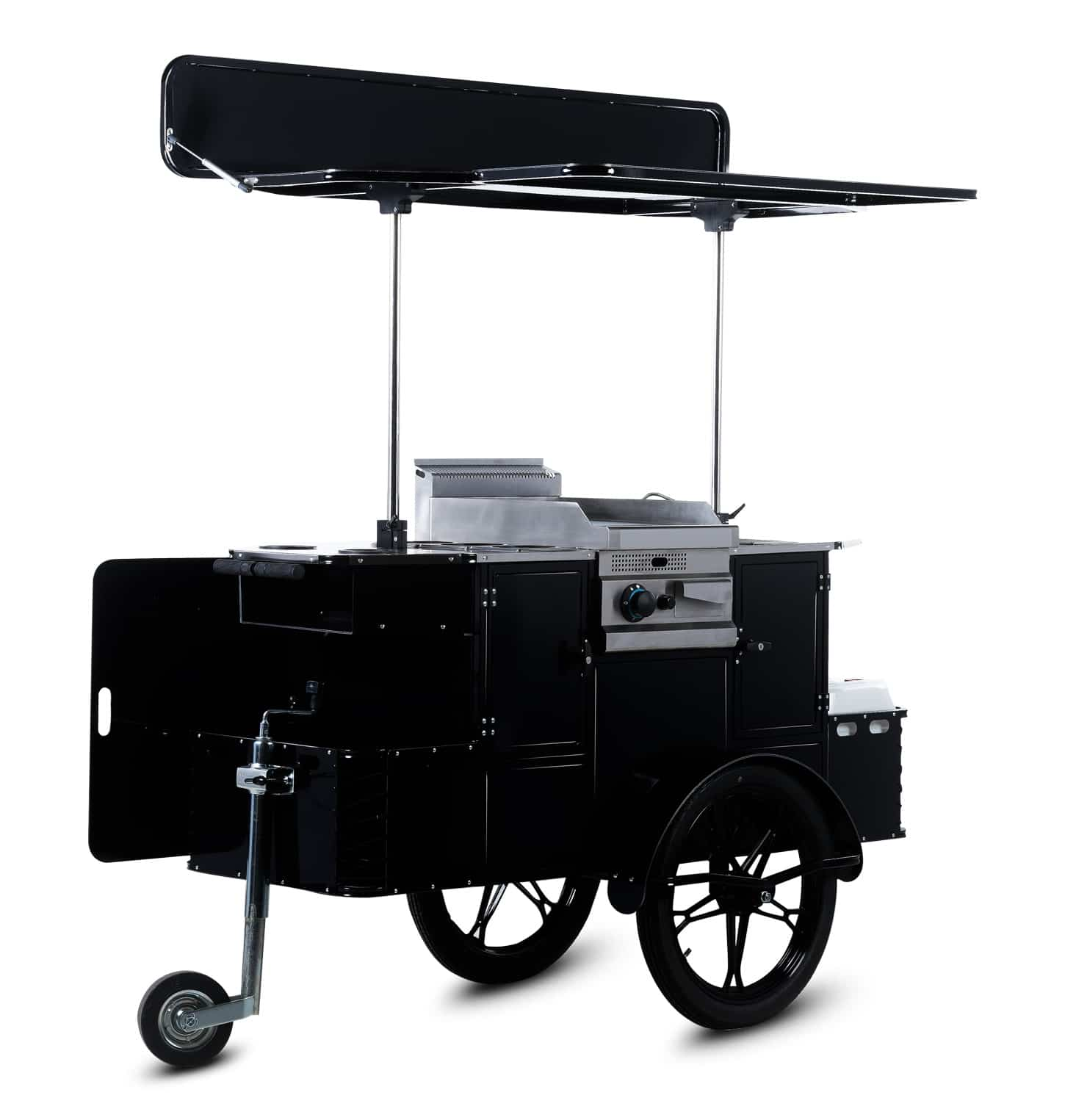 Bizz On Wheels BBQ & grill cart perspective view