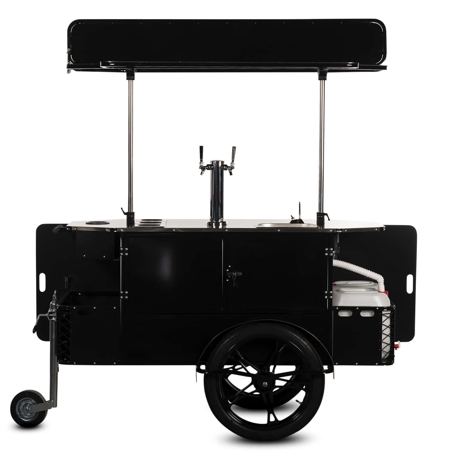 Bizz On Wheels beverage cart vendor side