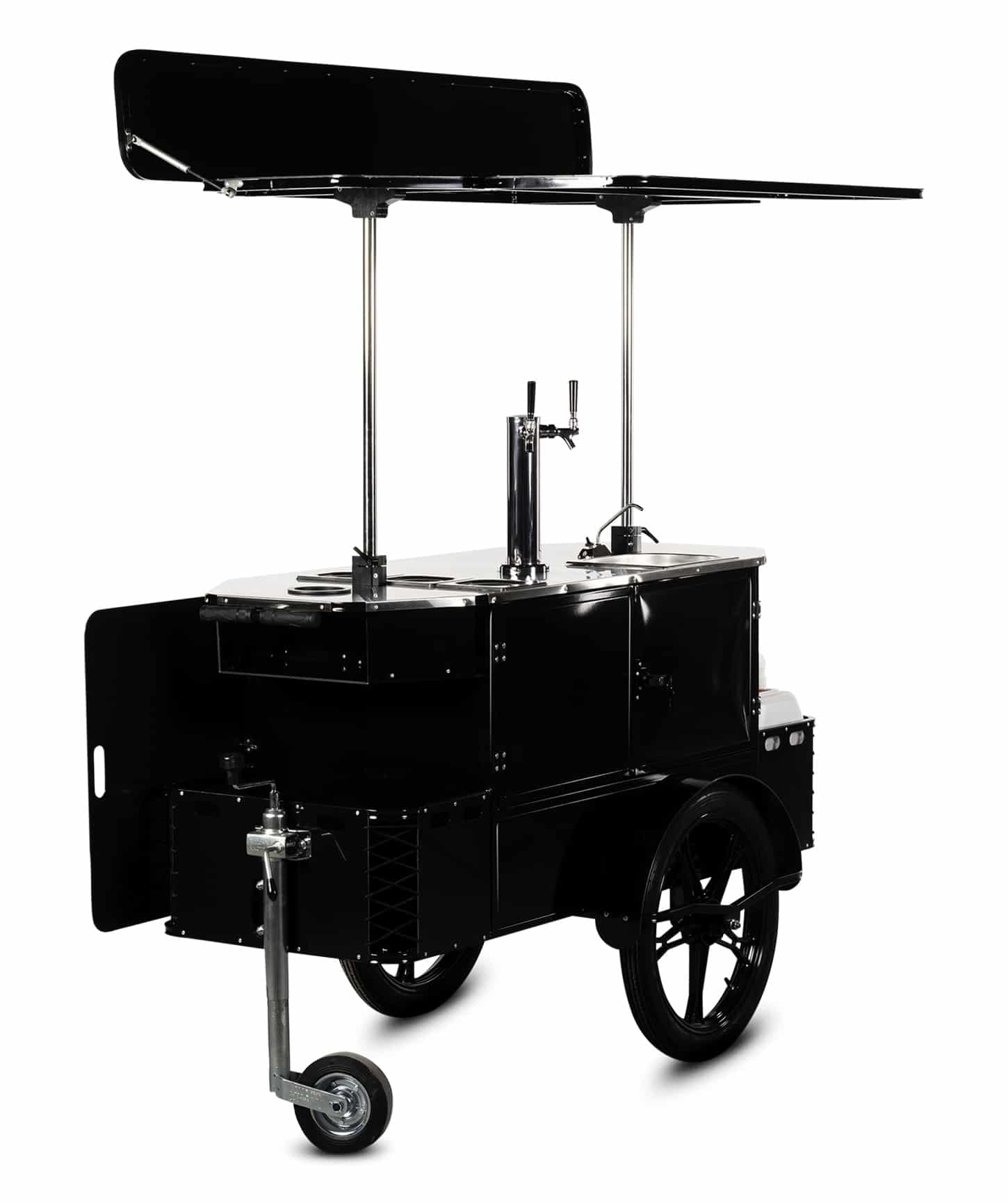 Bizz On Wheels beverage cart perspective view