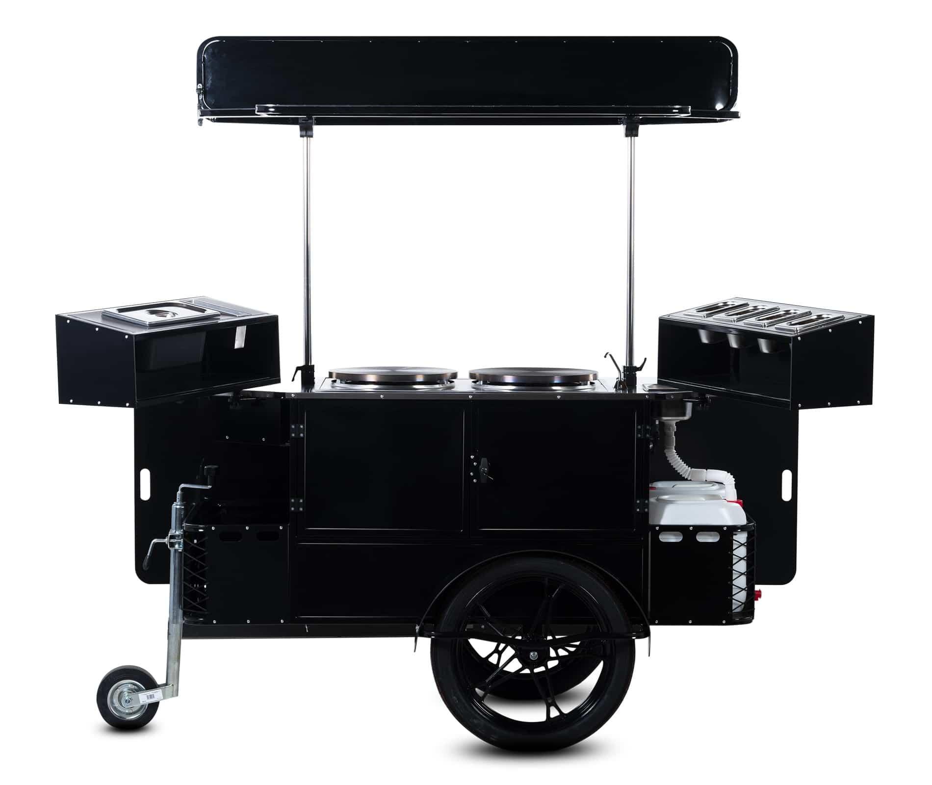 Bizz On Wheels crepe cart vendor side
