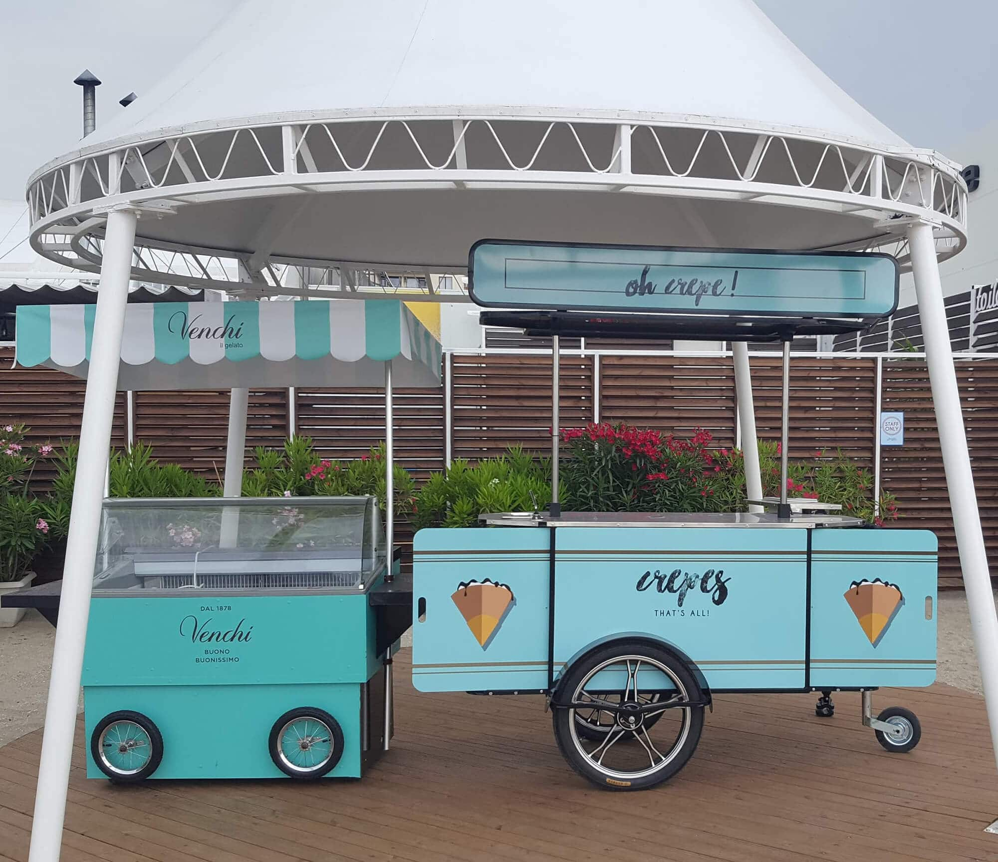 Fratelli crepe cart made by BizzOnWheels