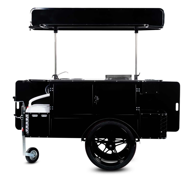 Bizz On Wheels hot dog cart vendor side
