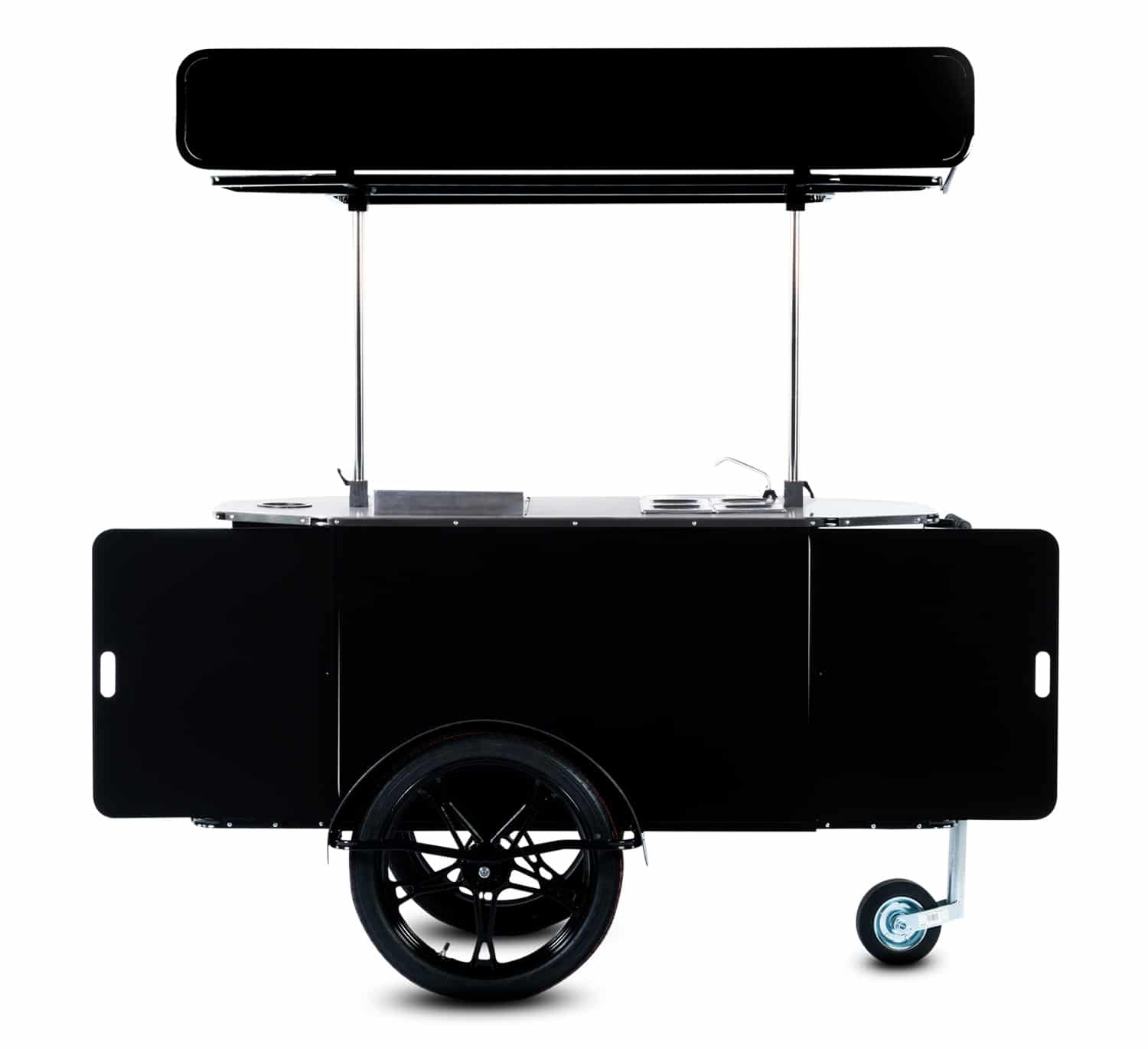 Hot dog cart manufactured by Bizz On Wheels