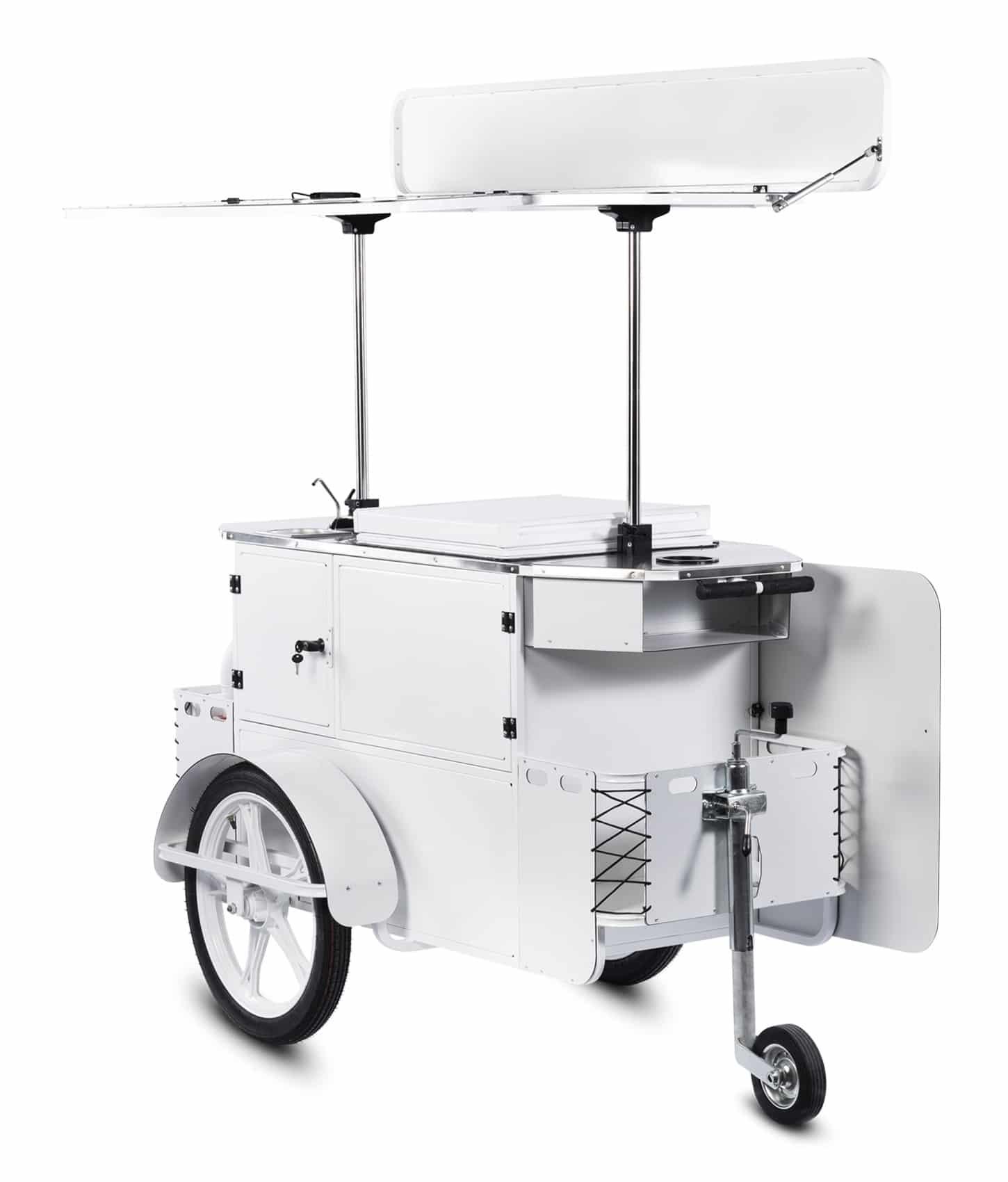 Bizz On Wheels ice cream cart perspective view