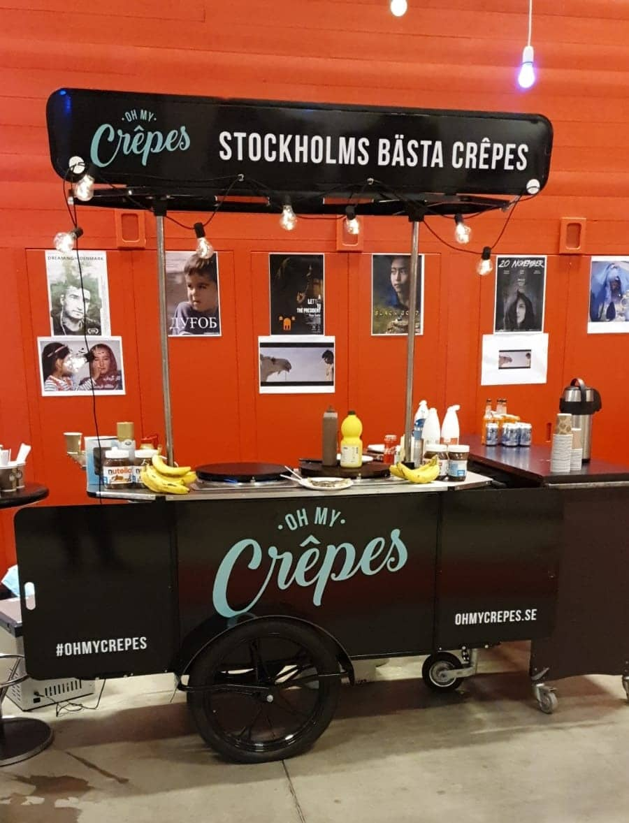 Crepe cart for Oh My Crepes manufactured by BizzOnWheels