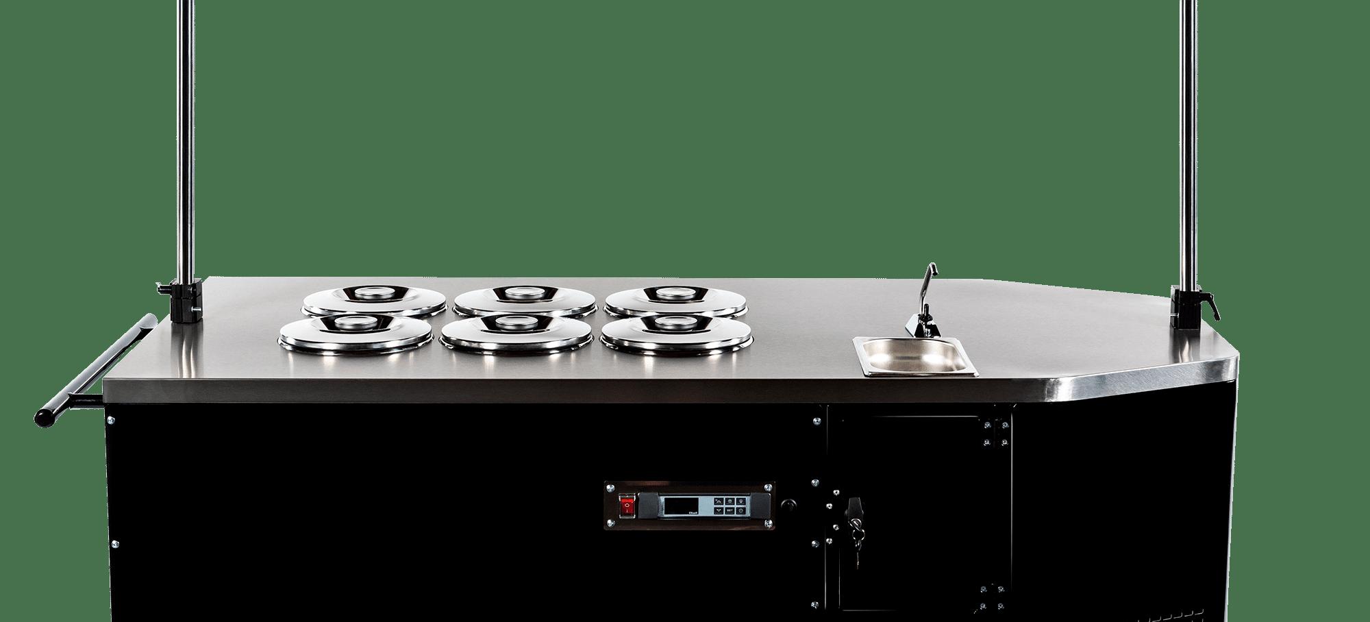Pozzetti gelato cart countertop equipment