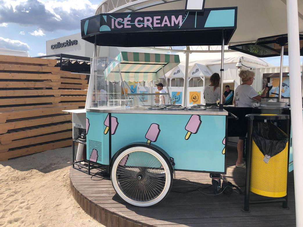 Pozzetti gelato cart manufactured by BizzOnWheels