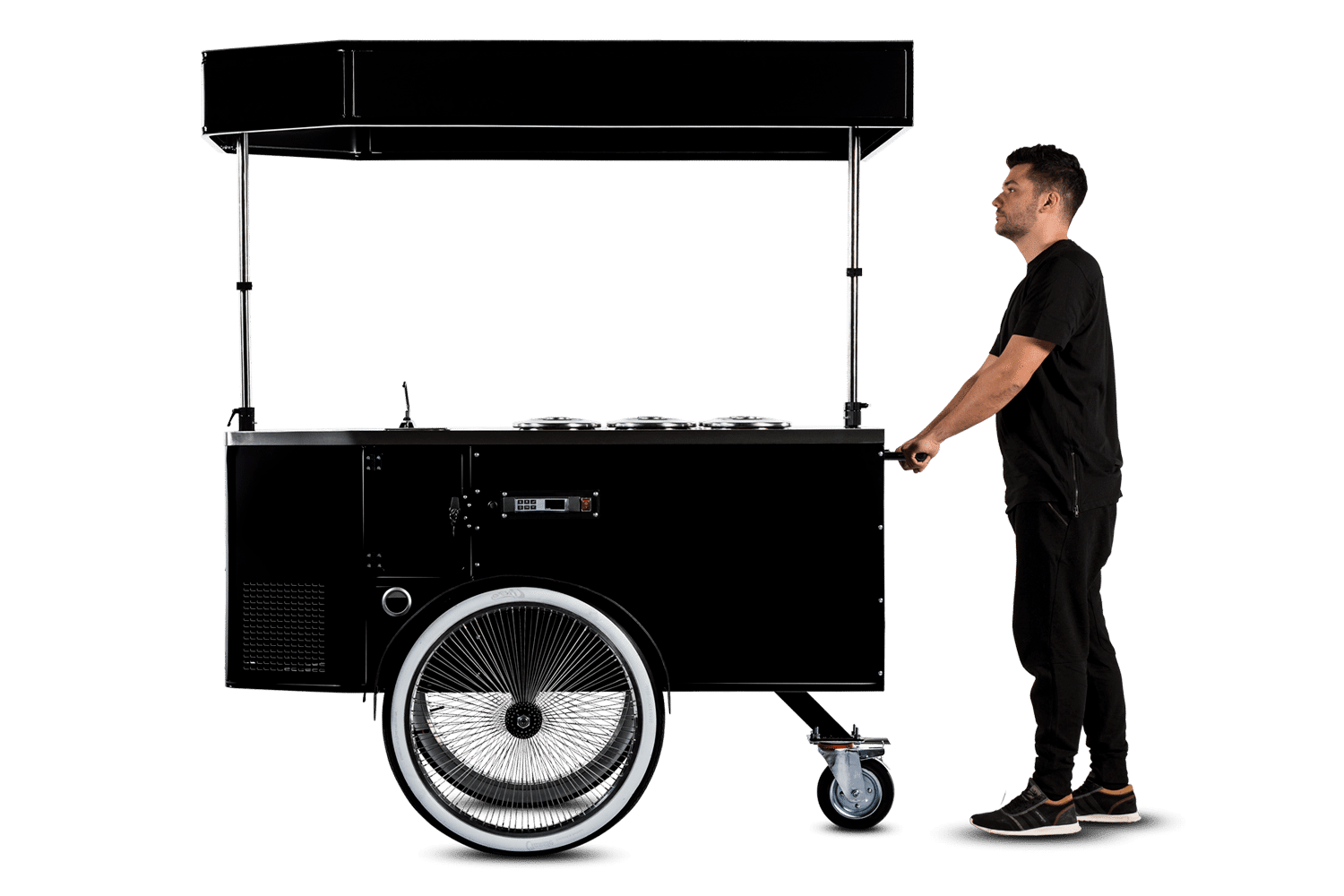 Pozetti gelato cart in push cart mode