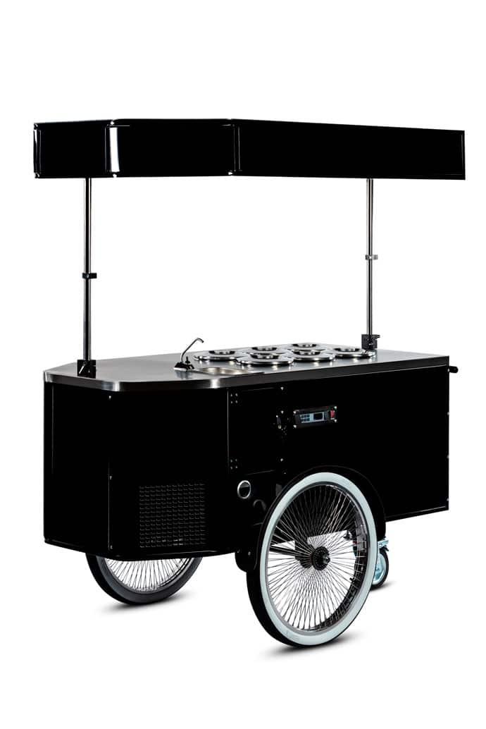 Gelato cart with Pozzetti system