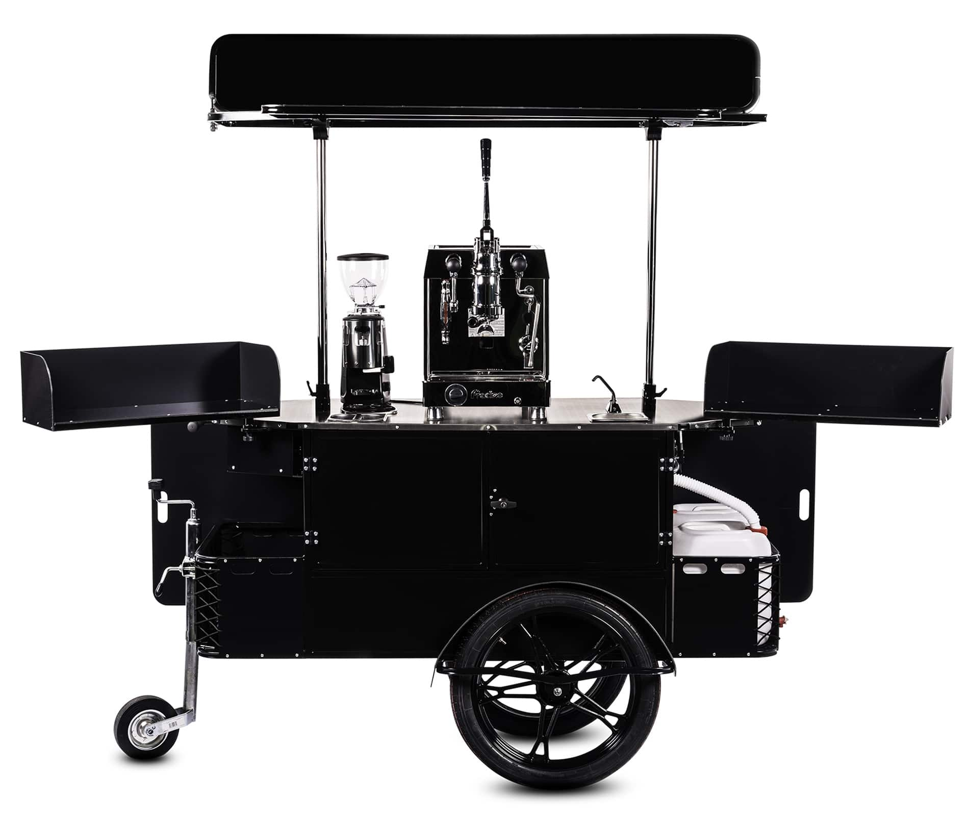 Bizz On Wheels premium coffee cart vendor side