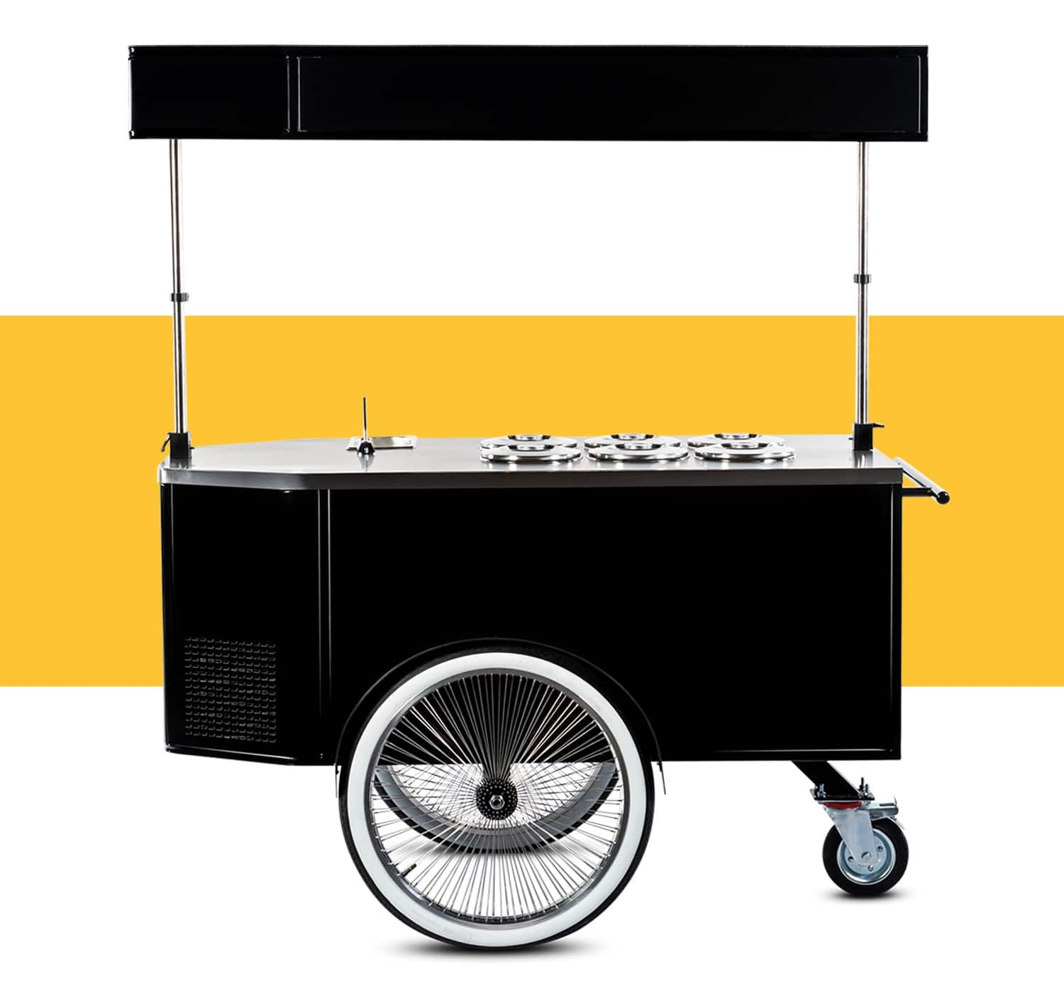 Gelato cart for sale by BizzOnWheels