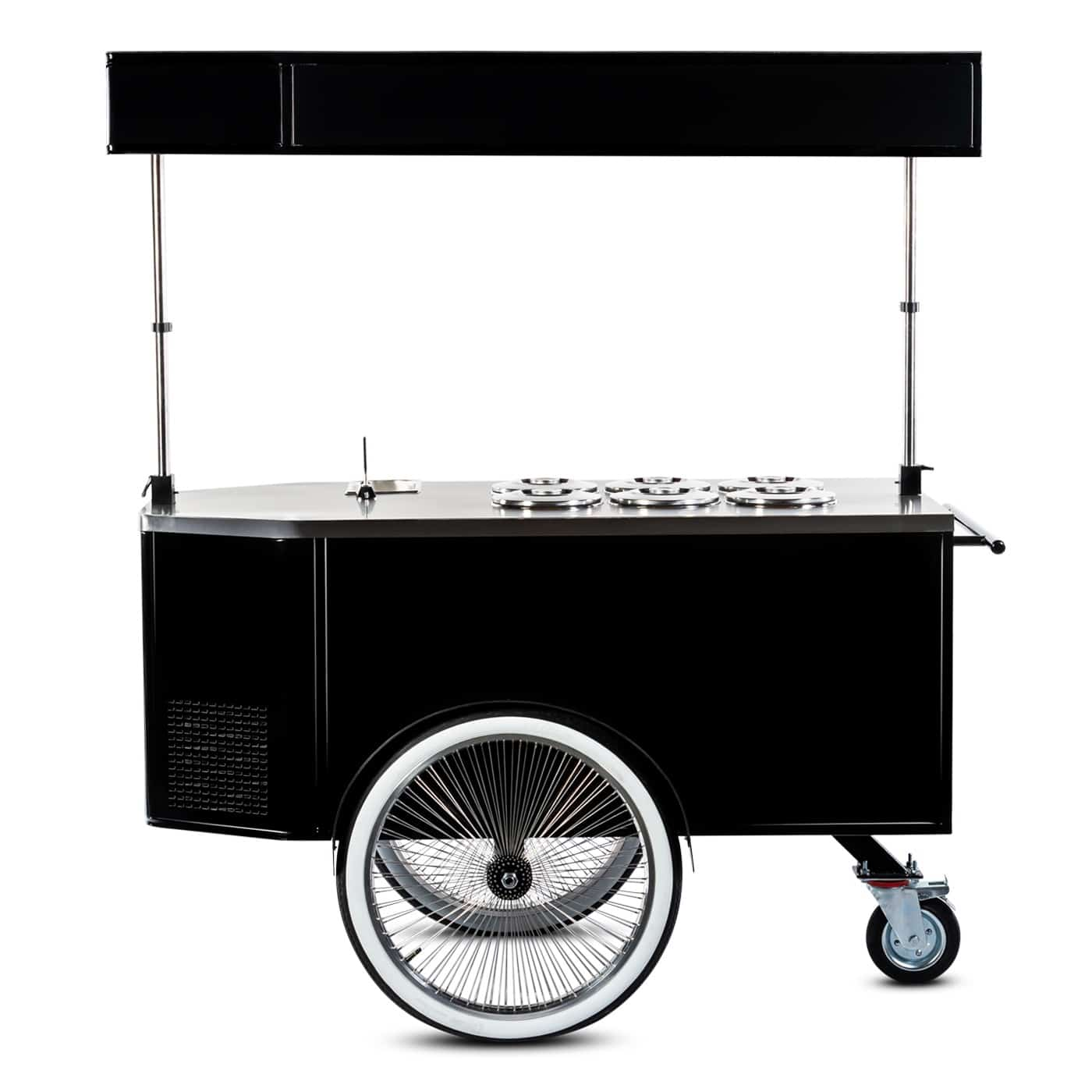 Pozzetti gelato cart manufactured by Bizz On Wheels