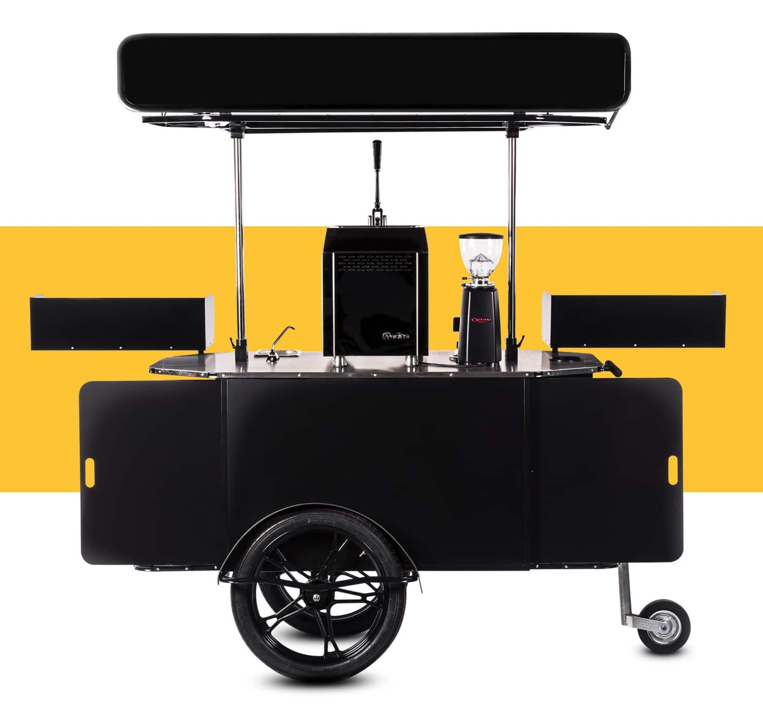 Fully equipped coffee cart for sale by Bizz On Wheels