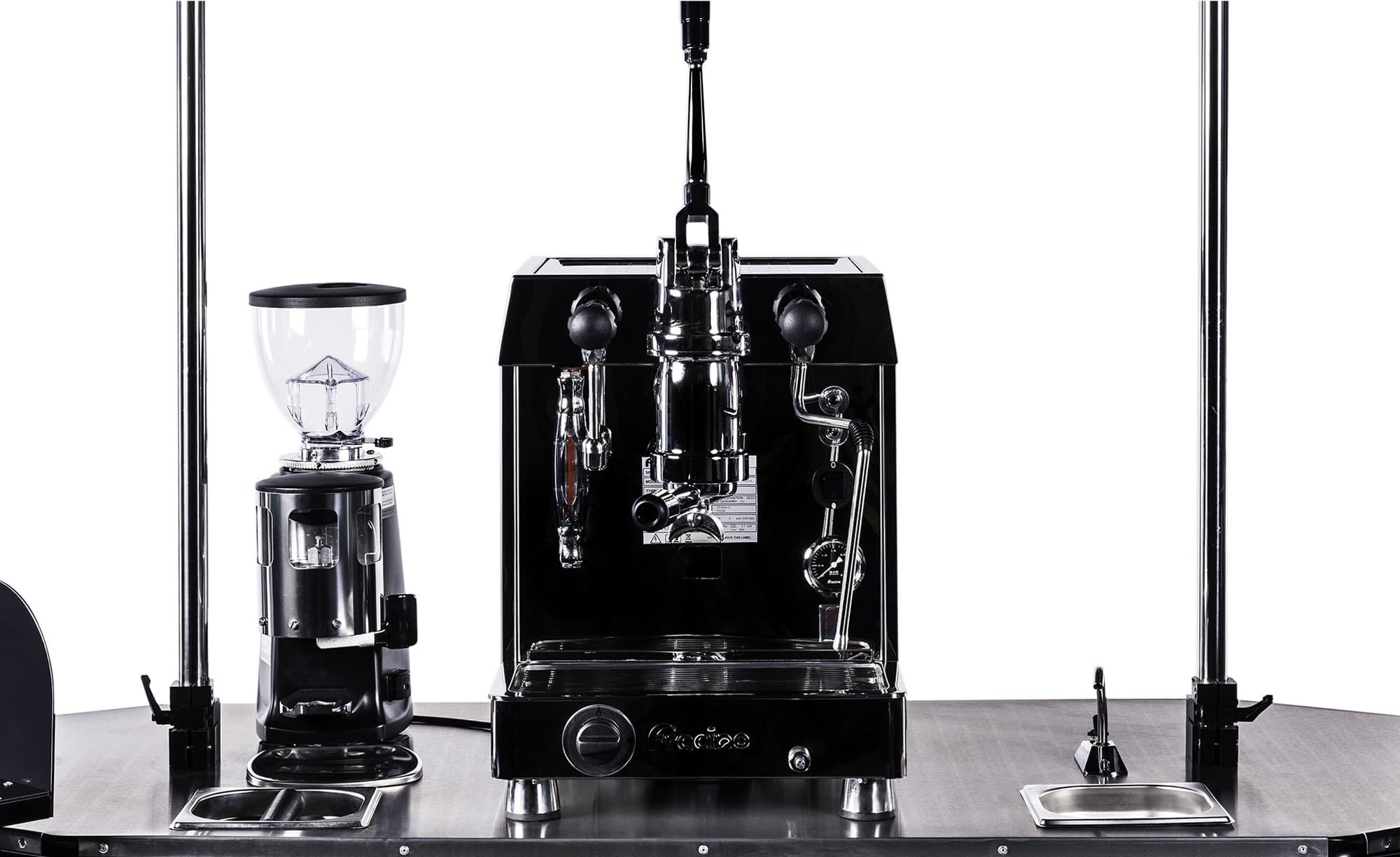 BizzOnWheels premium coffee cart countertop equipment