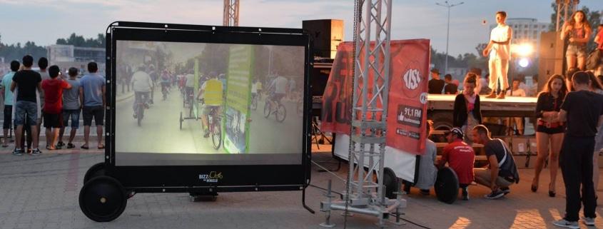 AdBicy video mobile billboard by Bizz On Wheels