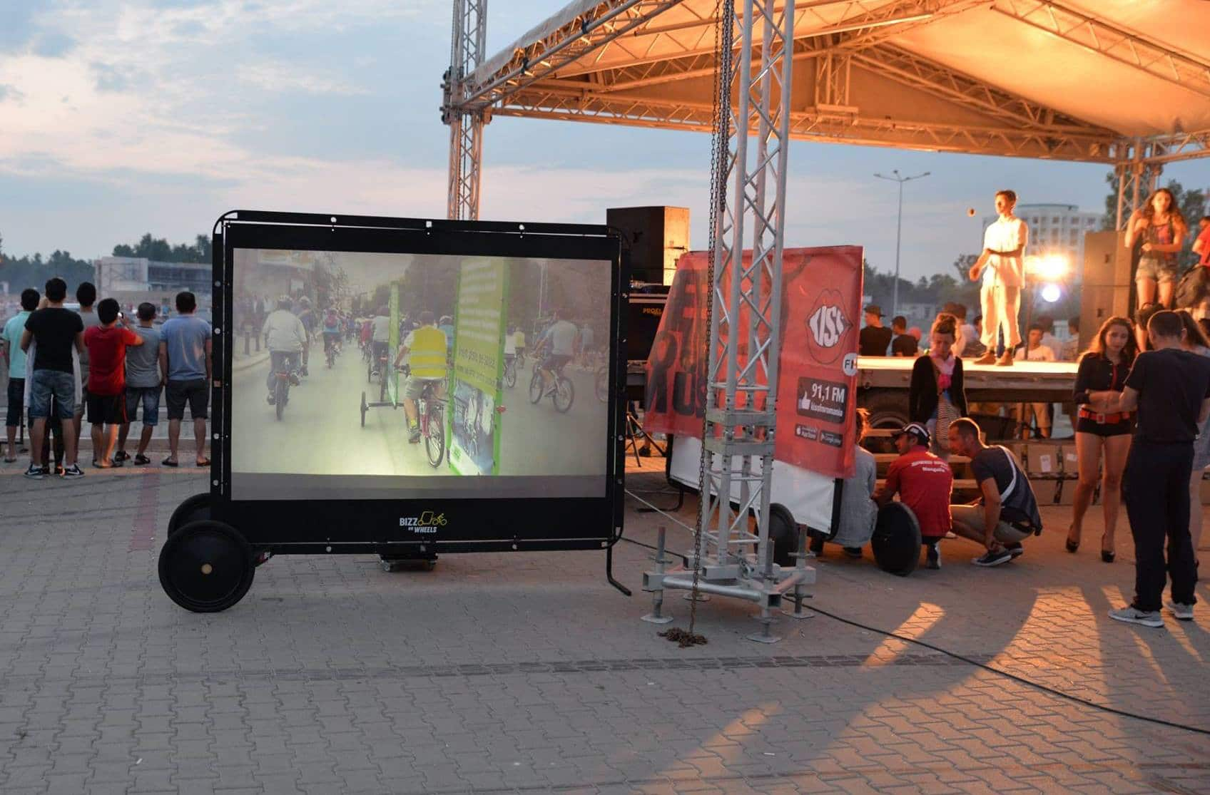 AdBicy video mobile billboard by Bizz On Wheels
