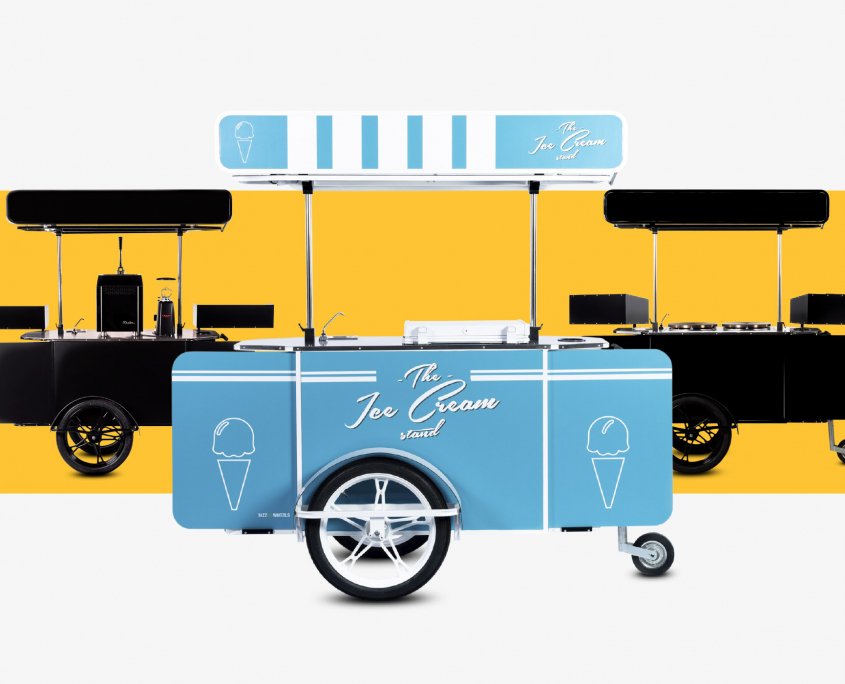 Mobile food carts for sale by Bizz On Wheels food carts manufacturers