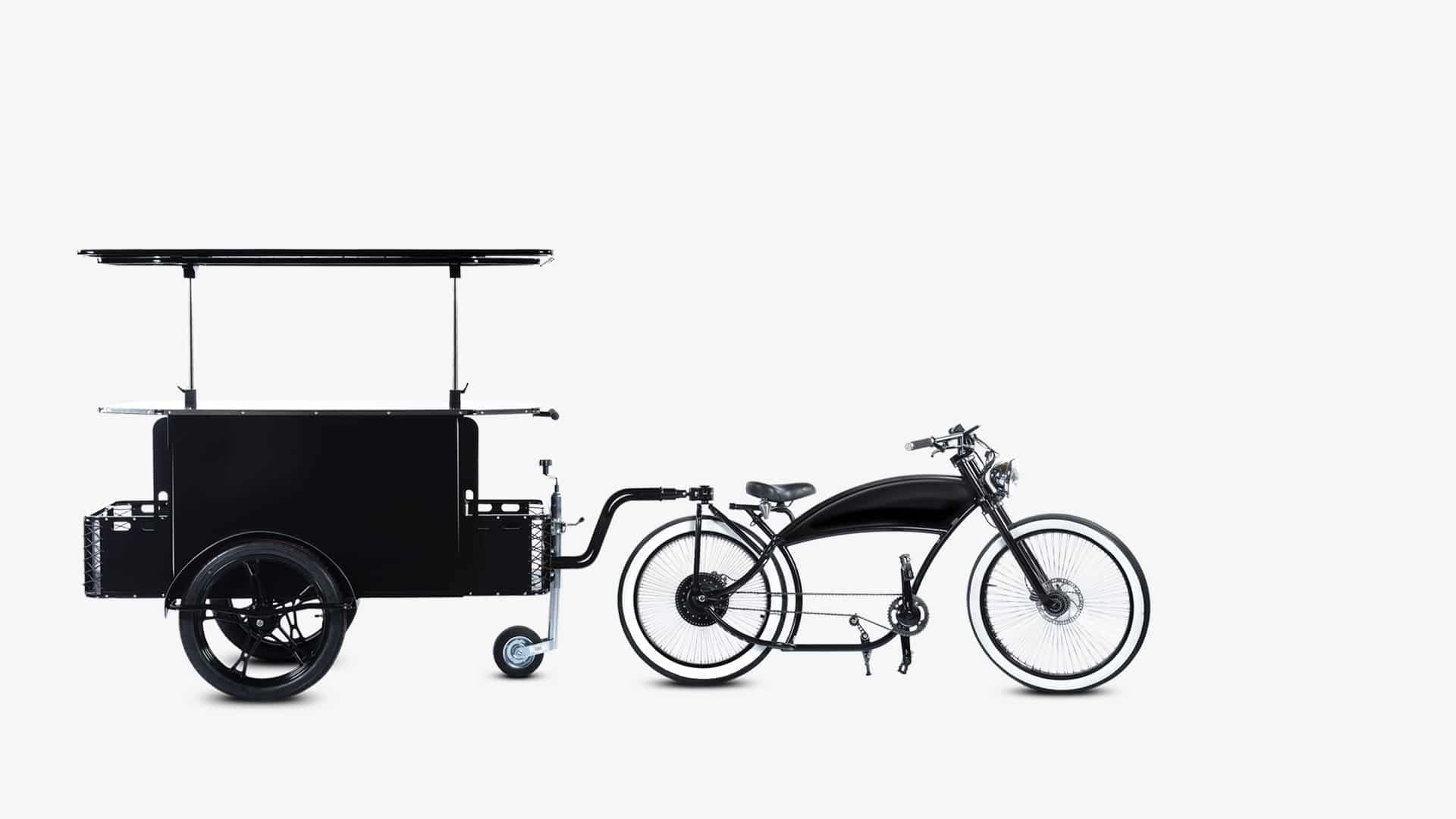 First food cart in the world with two traction modes by Bizz On Wheels