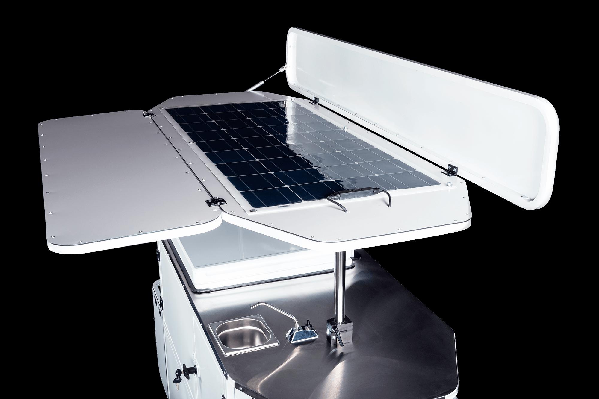 Bizz On Wheels solar panel kit for ice cream cart