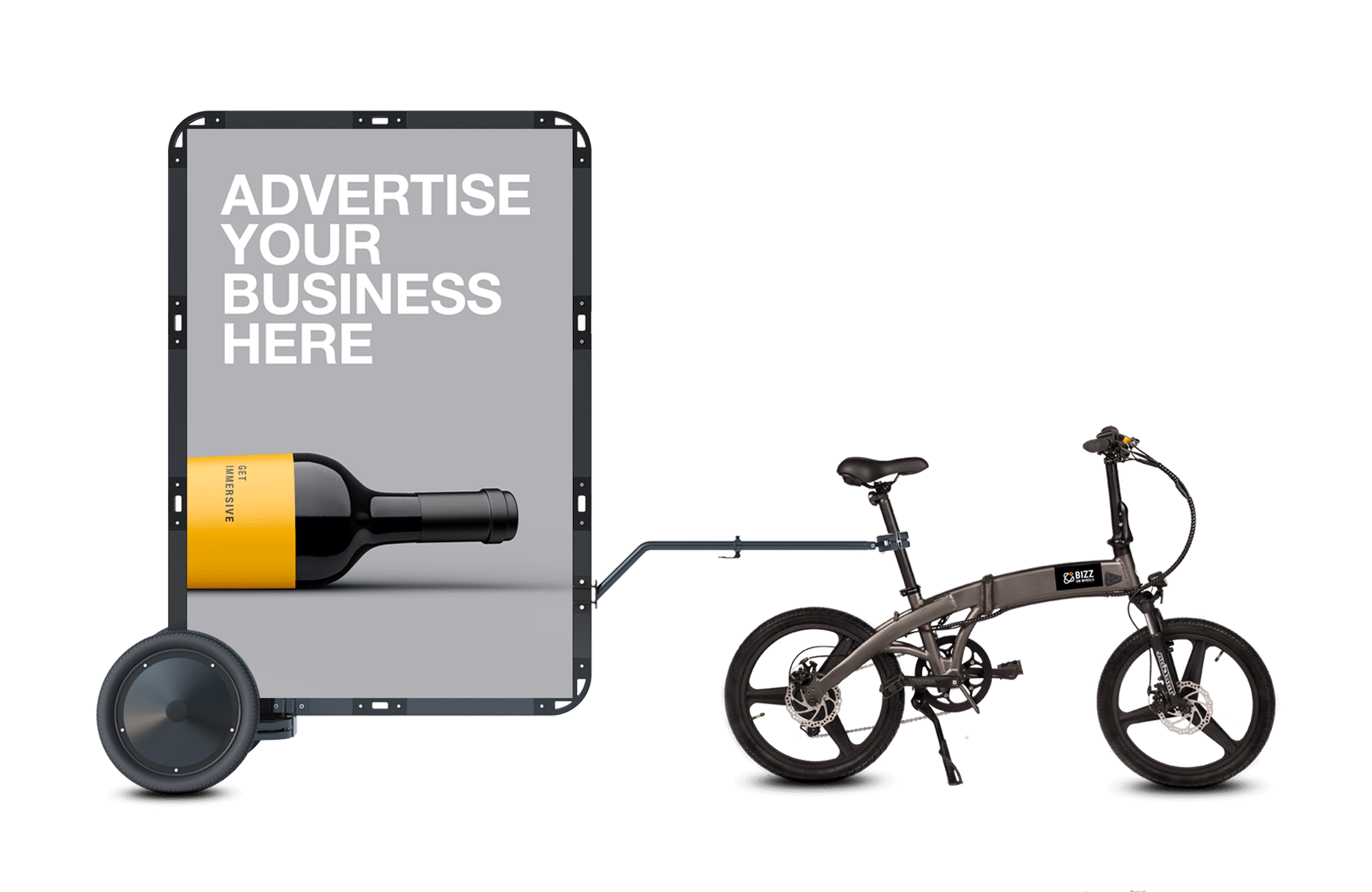 AdBicy mobile billboard by BizzOnWheels