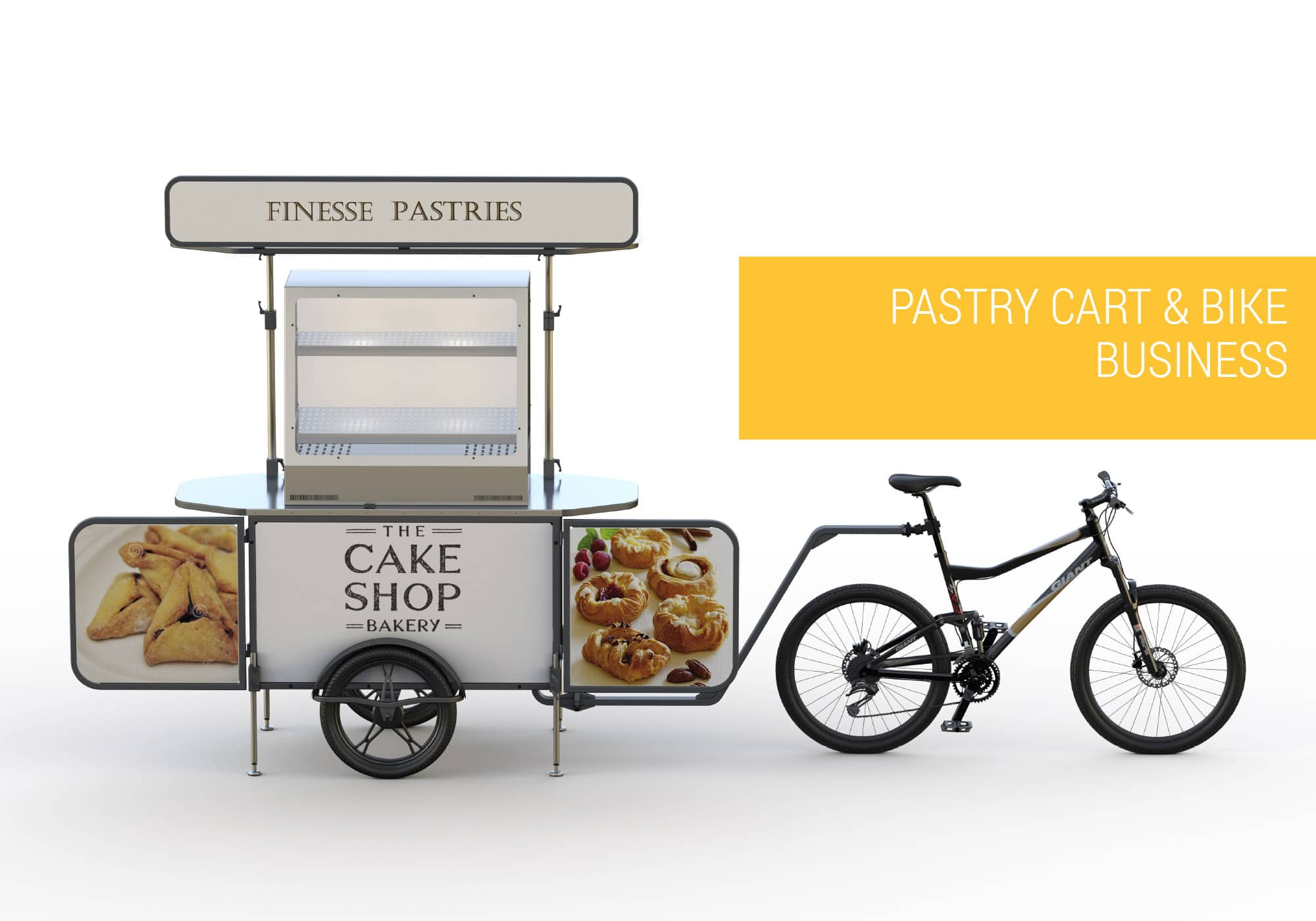 Pastry cart and pastry bike business Bizz On Wheels