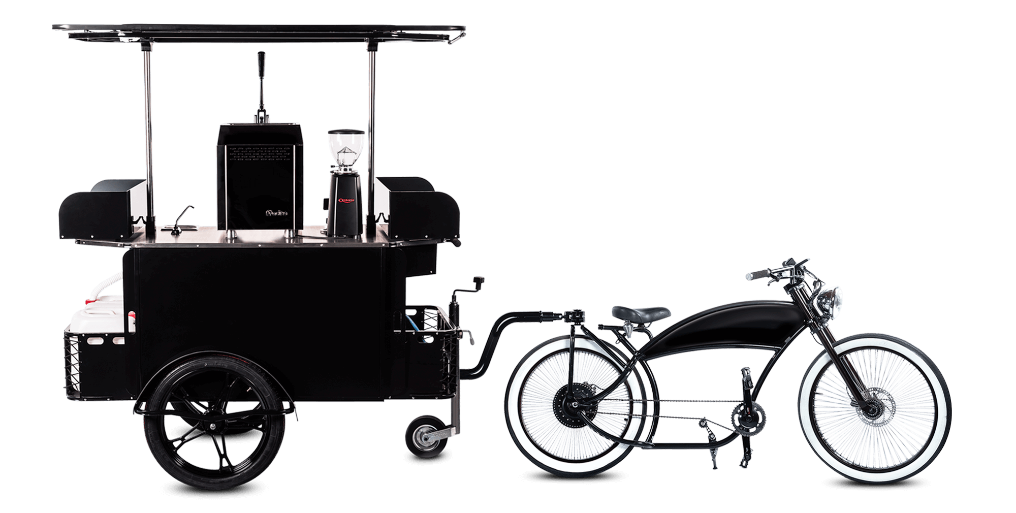 Coffee bike manufactured by BizzOnWheels