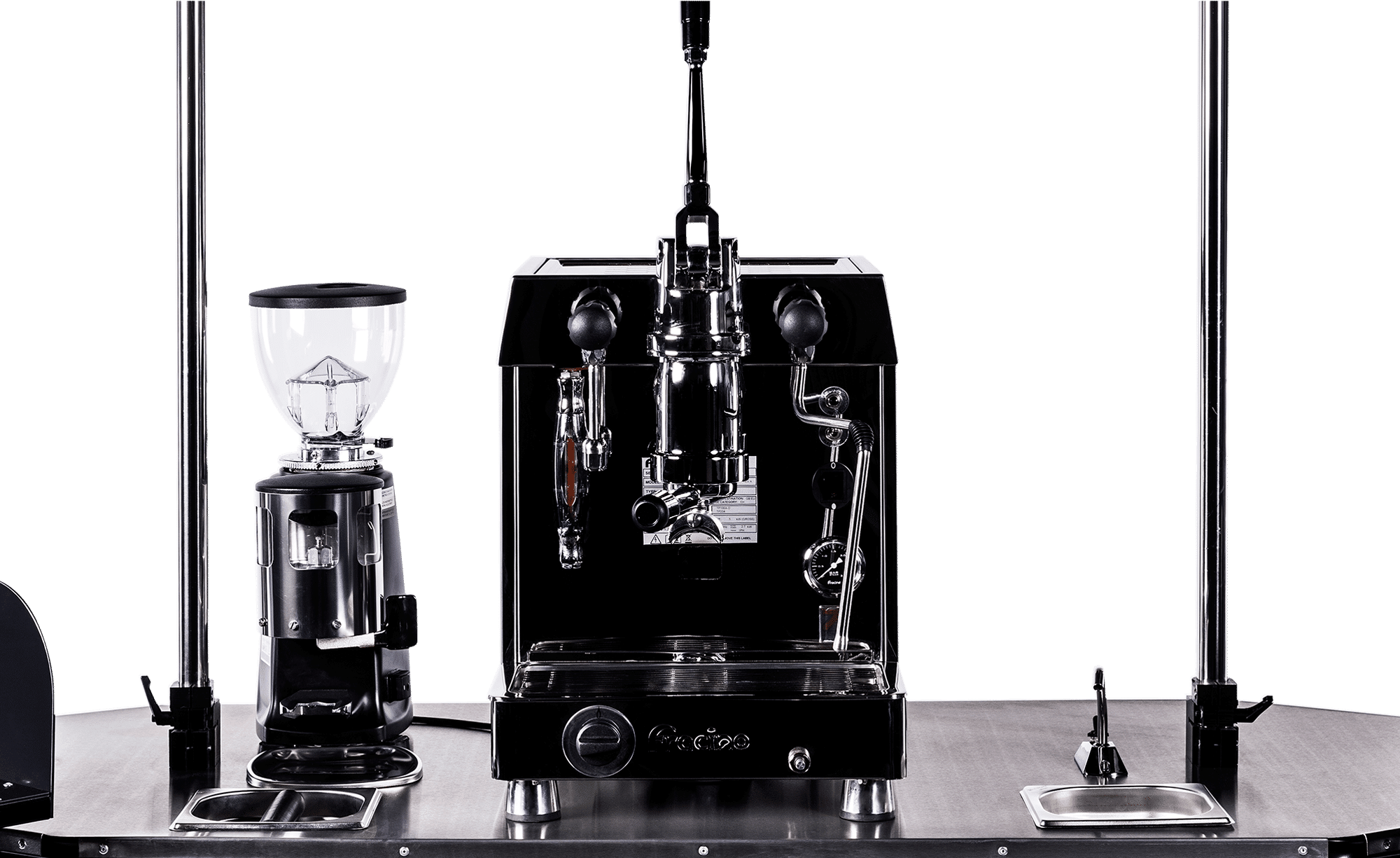 BizzOnWheels premium coffee cart countertop equipment