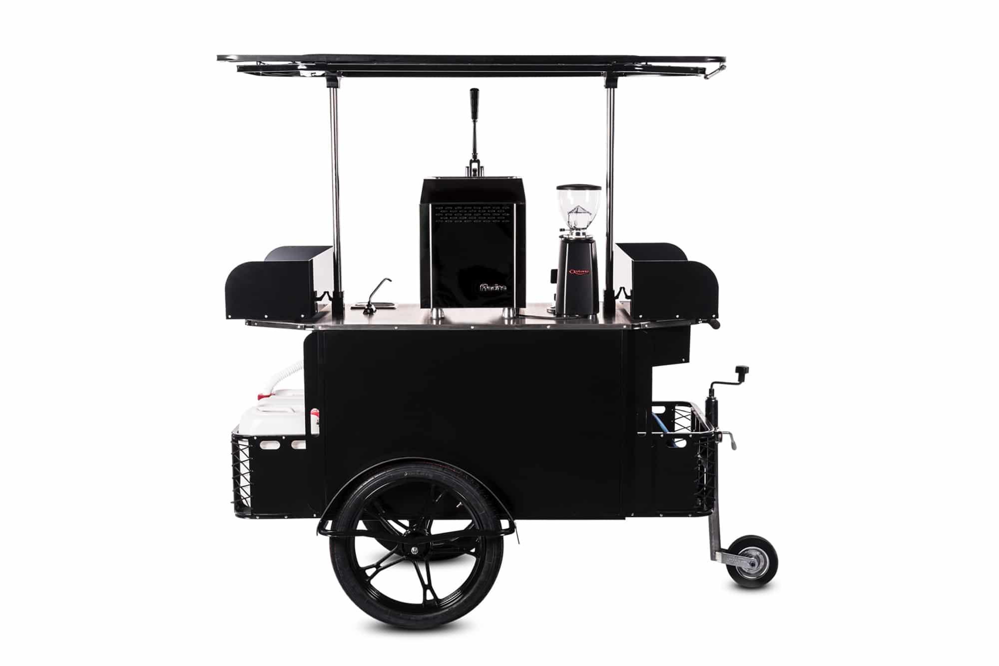 BizzOnWheels premium coffee cart in folded mode