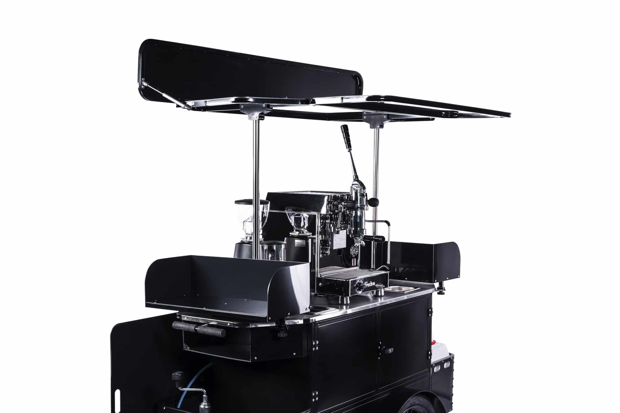 Premium coffee cart side view