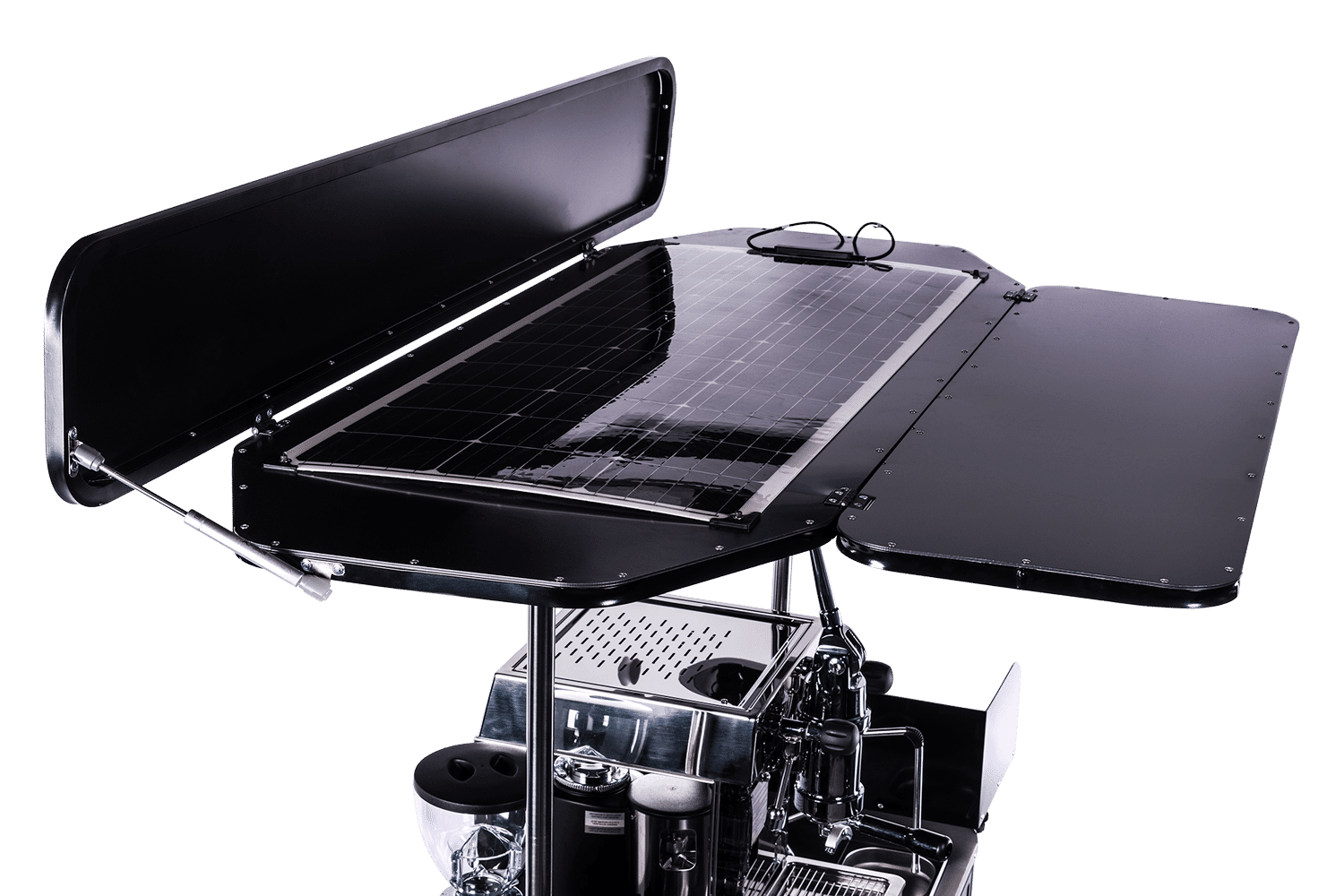 Solar panel kit for food carts by BizzOnWheels
