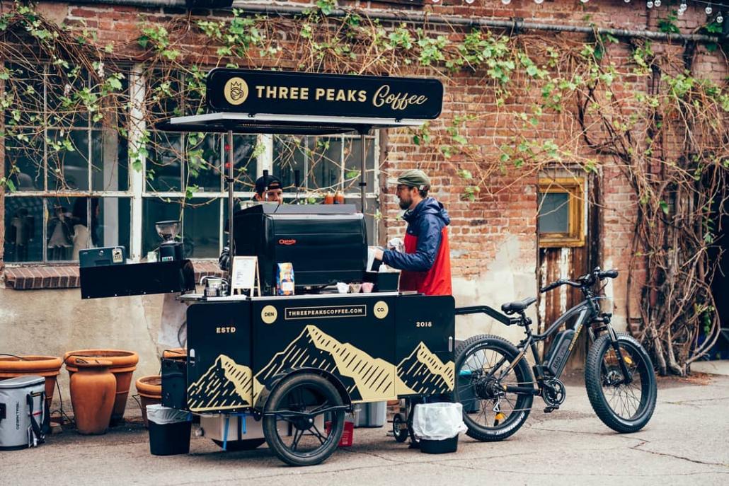 Coffee bike for Three Peaks Coffee