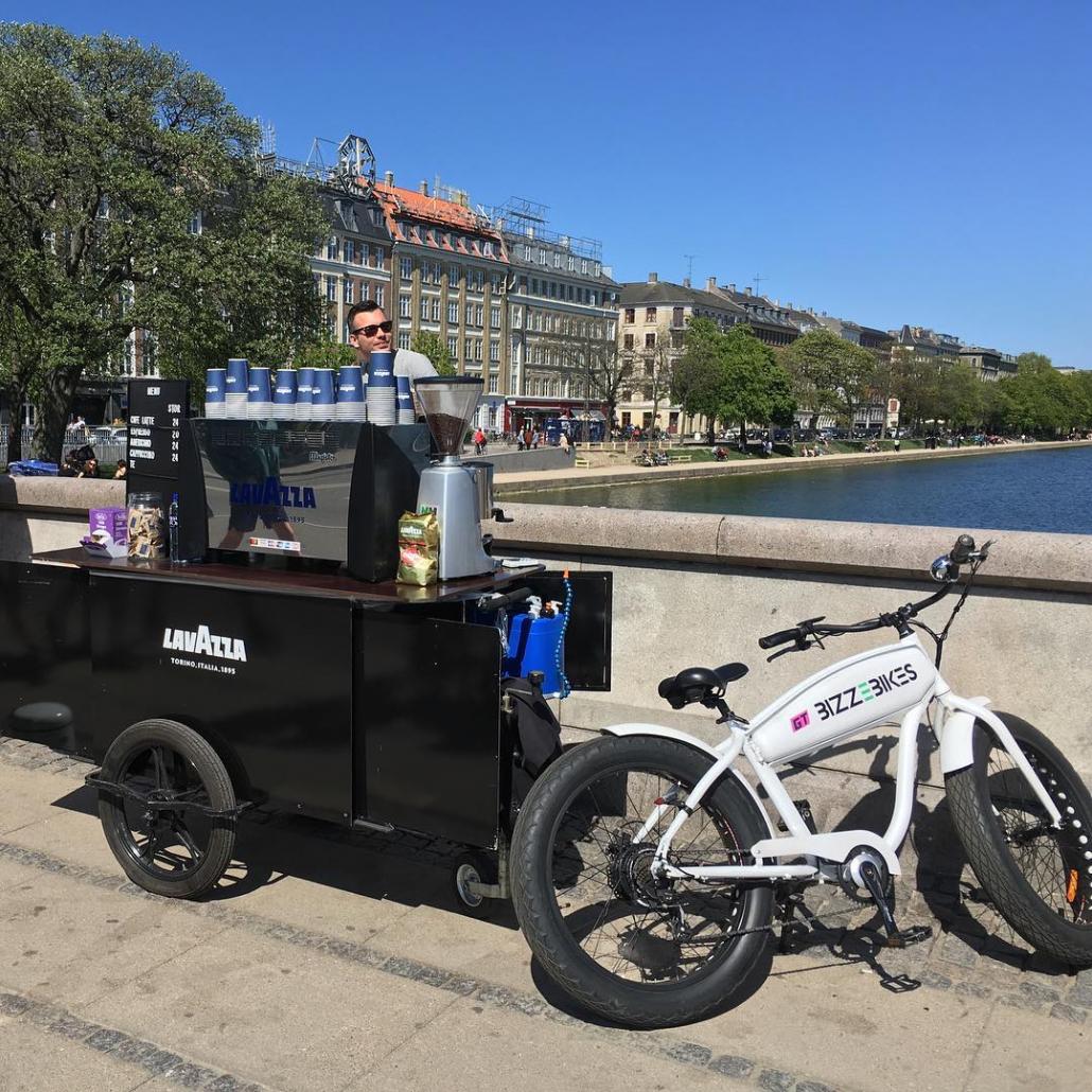 Bizz On Wheels coffee cart and coffee bike