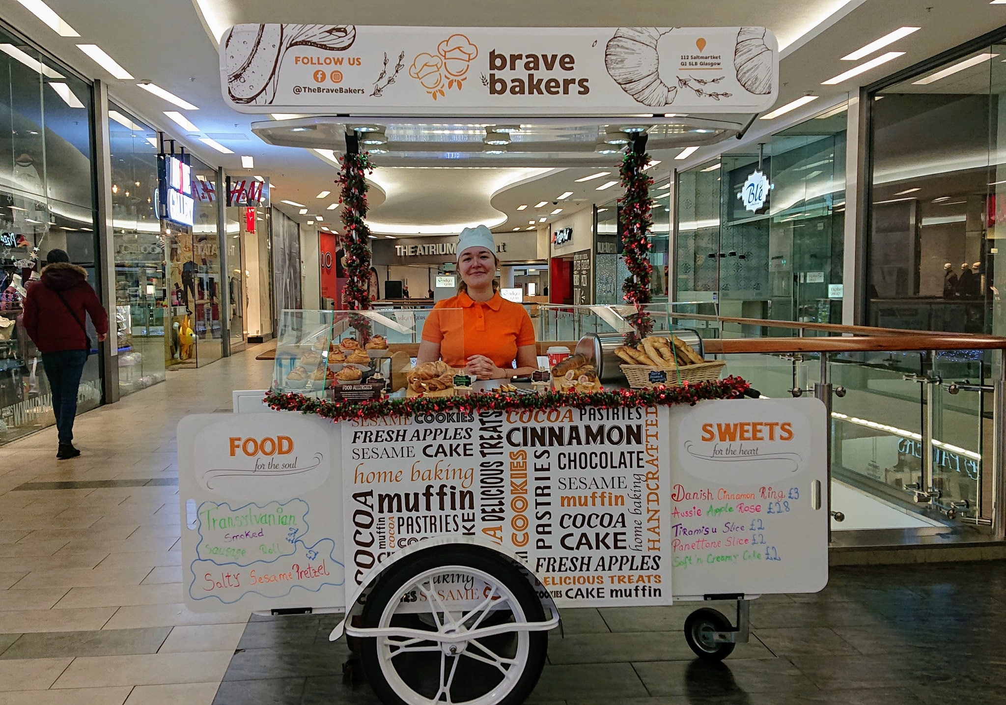 Pastry vendor cart for Brave Bakers UK by Bizz On Wheels