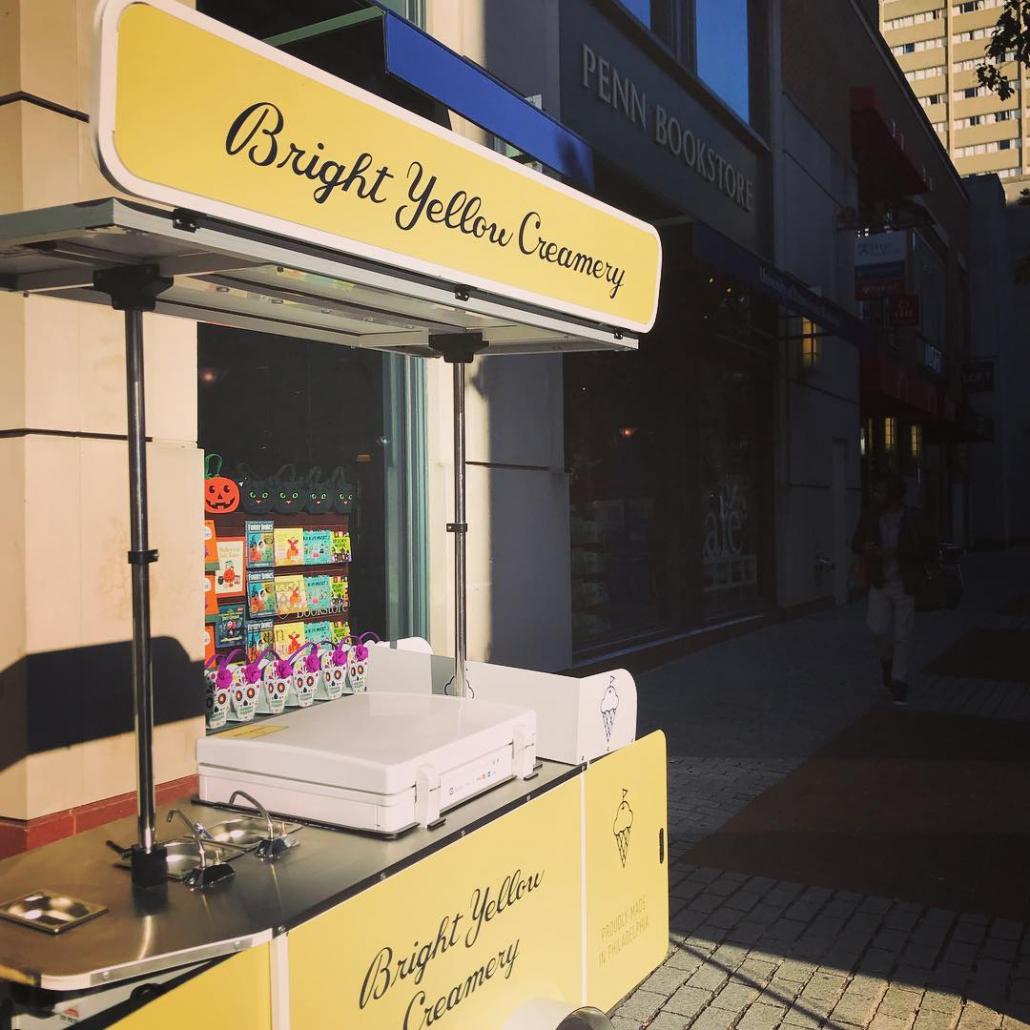 Bizz On Wheels ice cream cart for Bright Yellow Creamery