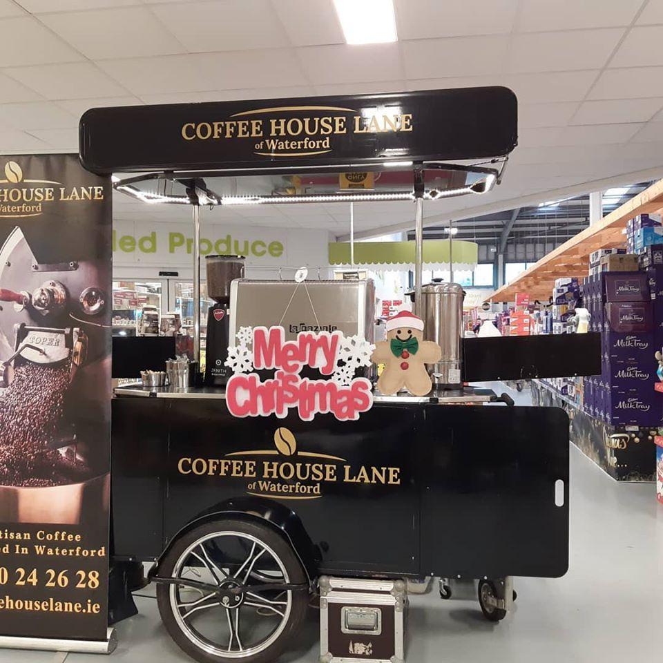 Coffee House Lane coffee cart made by Bizz On Wheels