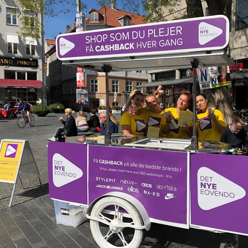 Ice cream cart by Bizz On Wheels for Eovendo Denmark