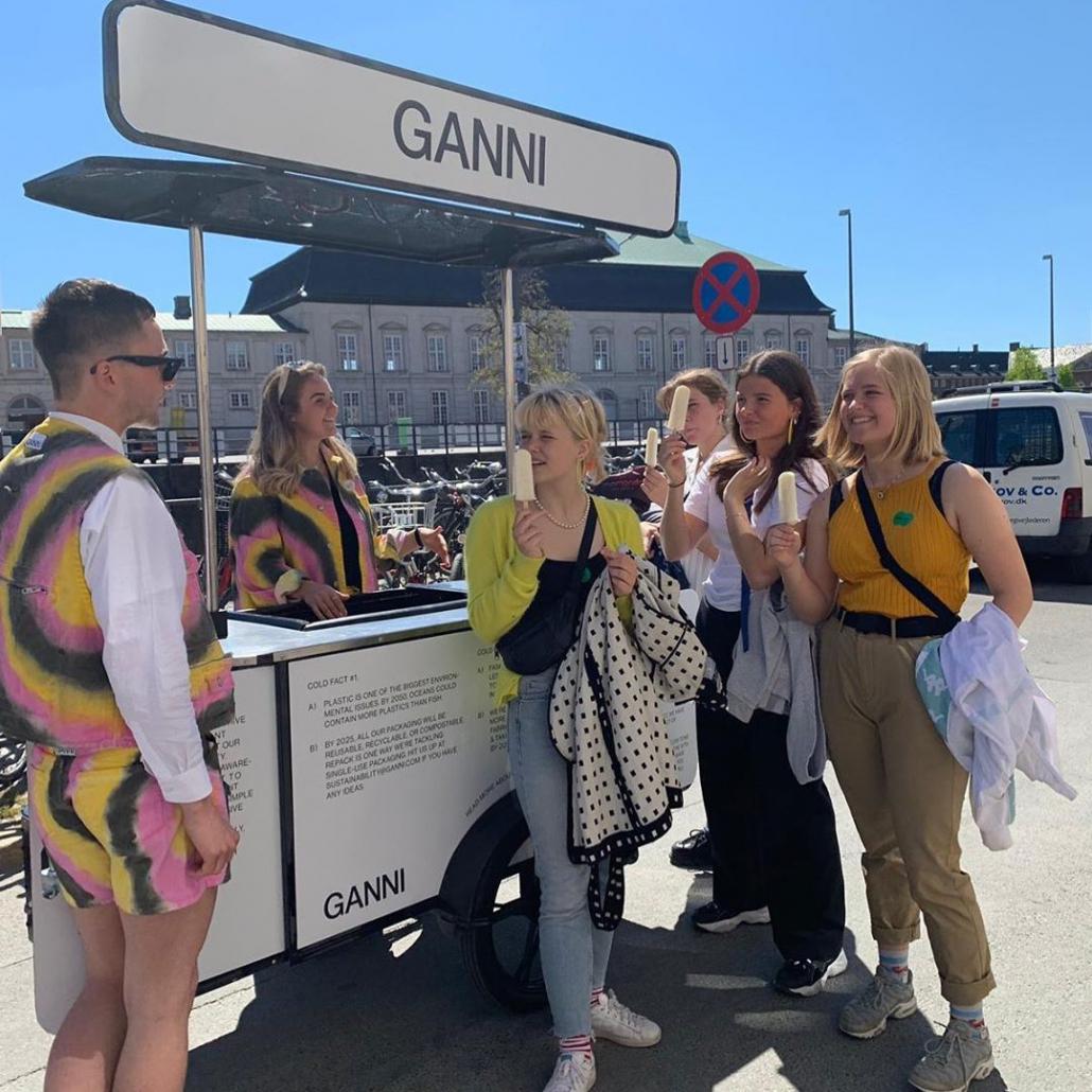 Bizz On Wheels ice cream cart for Ganni Denmark