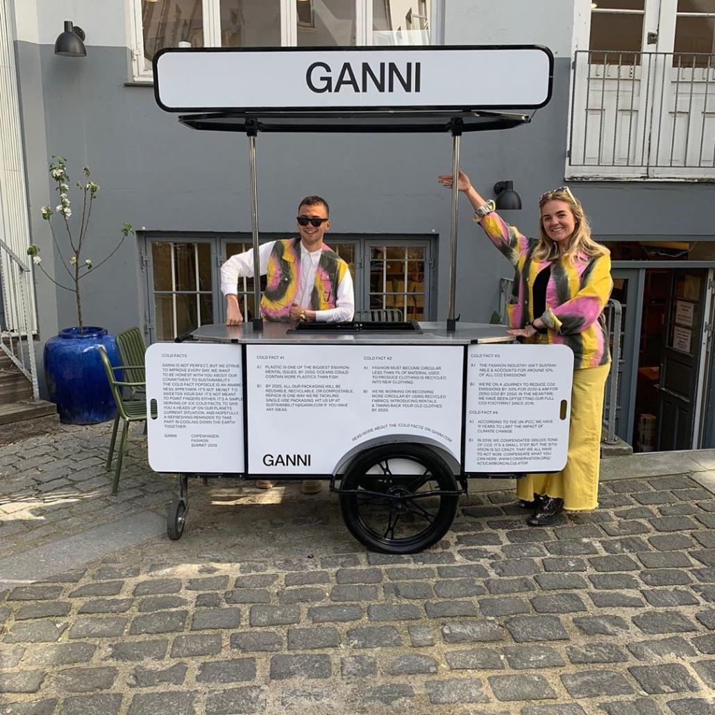 Ice cream cart by Bizz On Wheels for Ganni Denmark