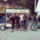Large AdBicy bike advertising billboard by Bizz On Wheels
