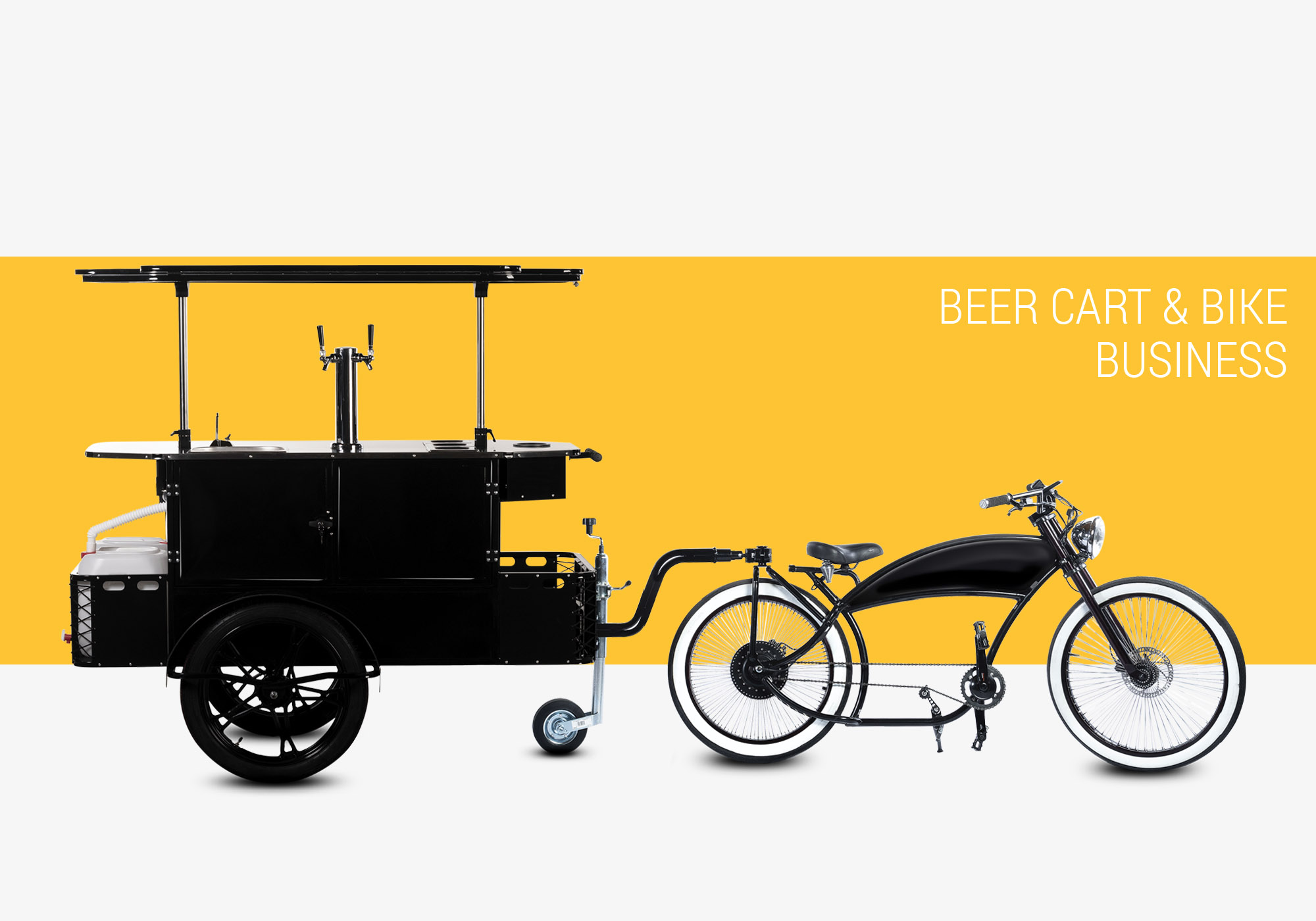 Beer cart and beer bike business Bizz On Wheels