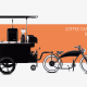 Coffee cart and coffee bike business Bizz On Wheels
