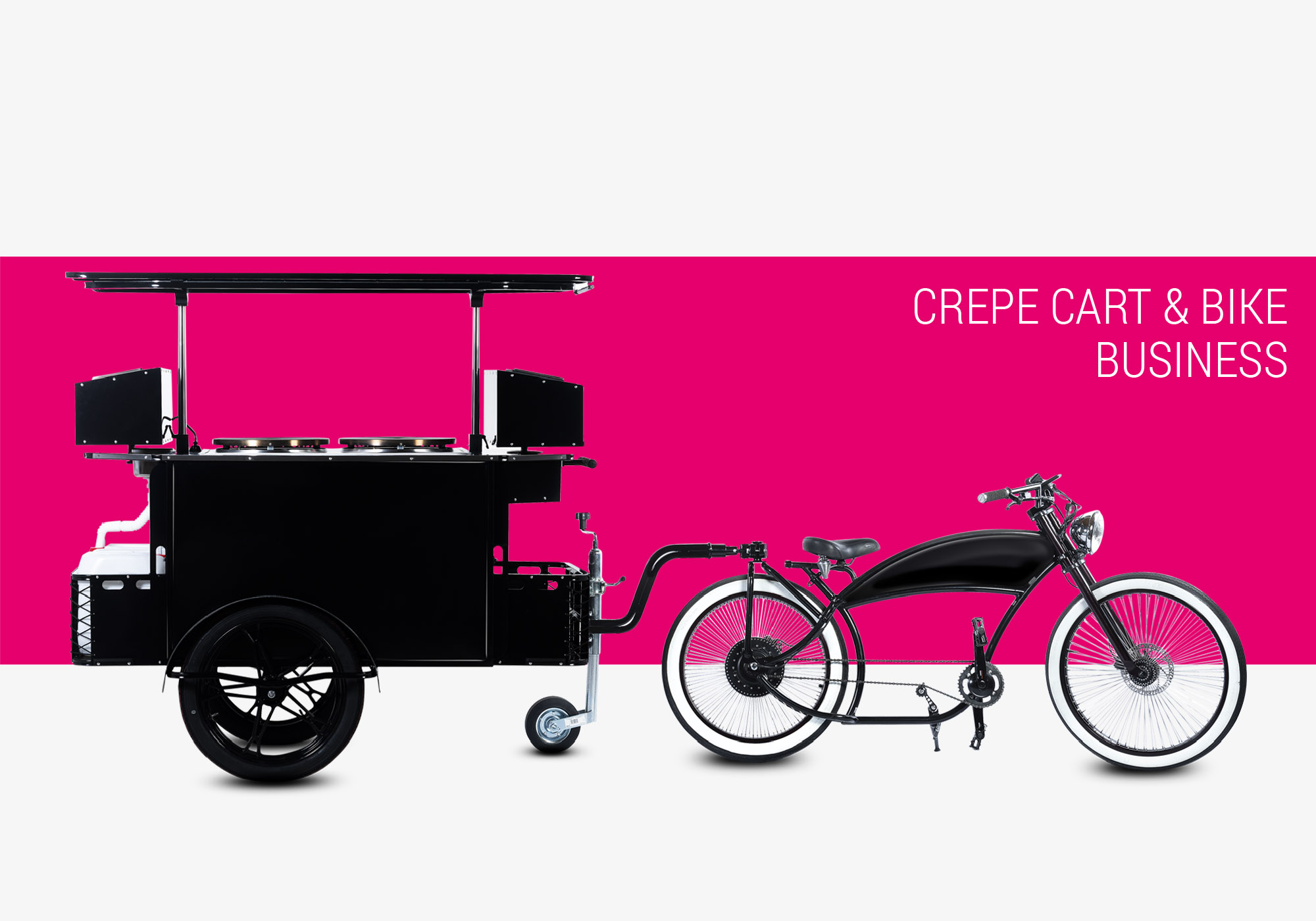 Crepe cart and crepe bike business Bizz On Wheels